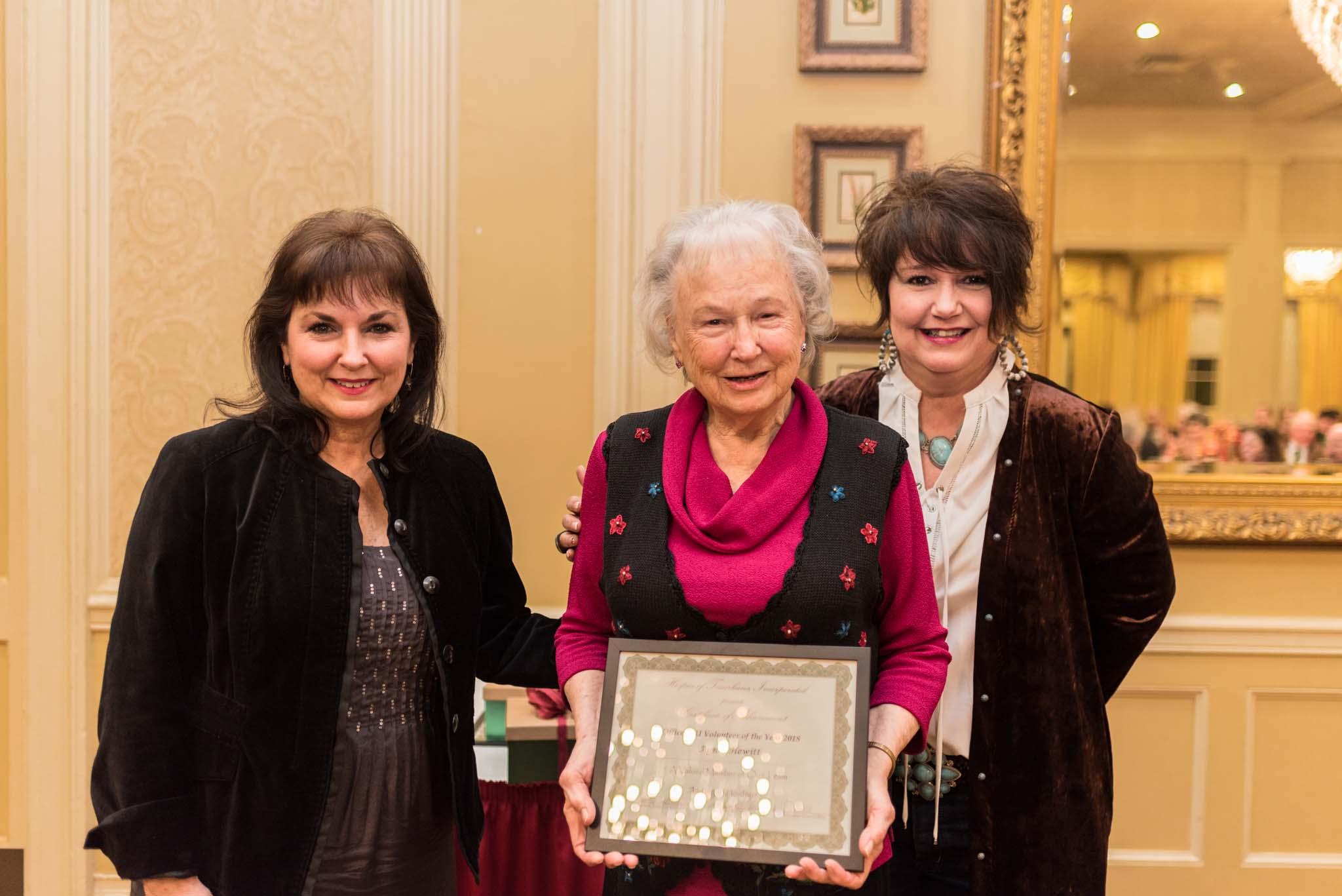 Cindy Marsh, Agnes Hewett and Debra Morse