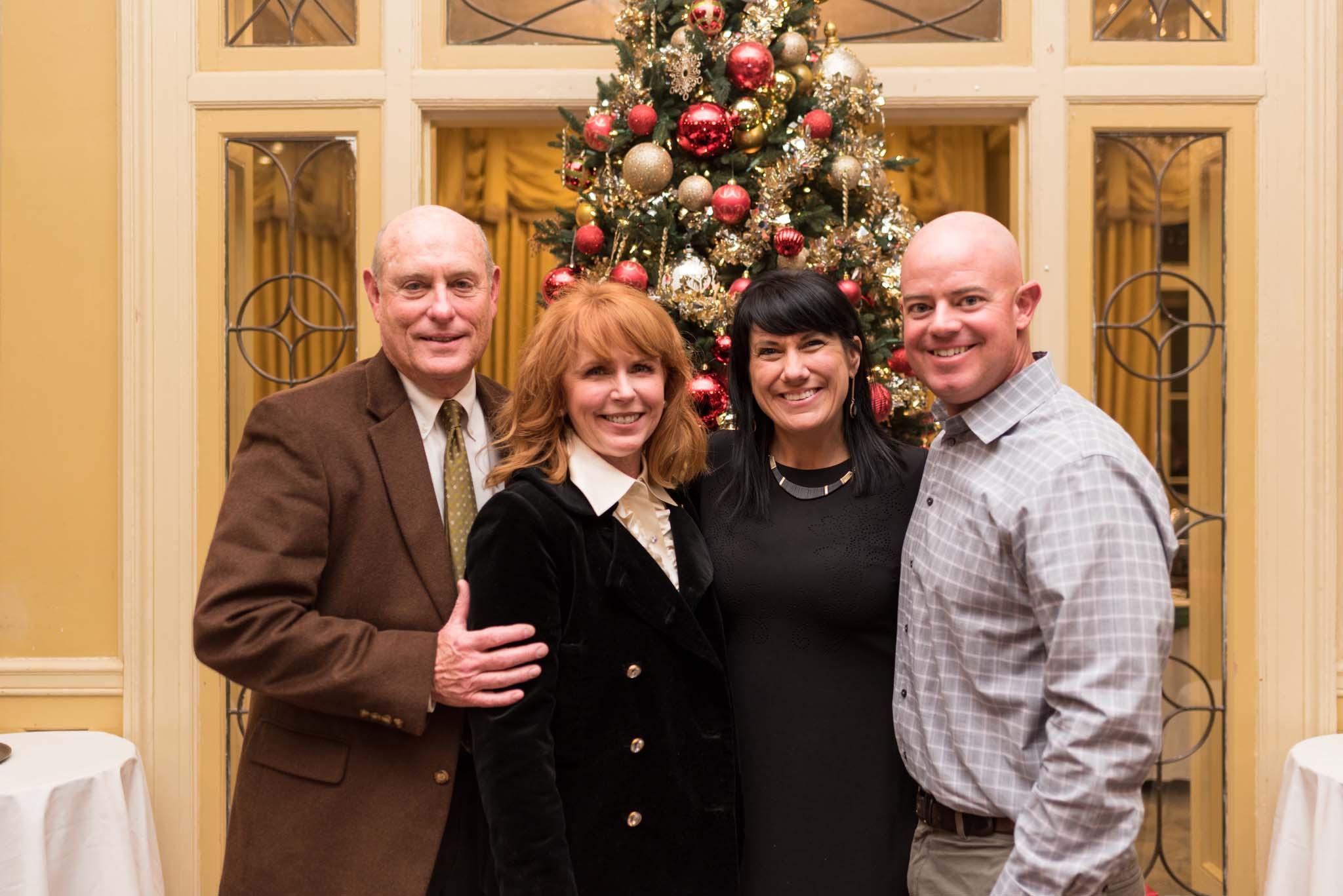 Mike and Hon. Caroline Craven with Jennifer and Derek Orgeron