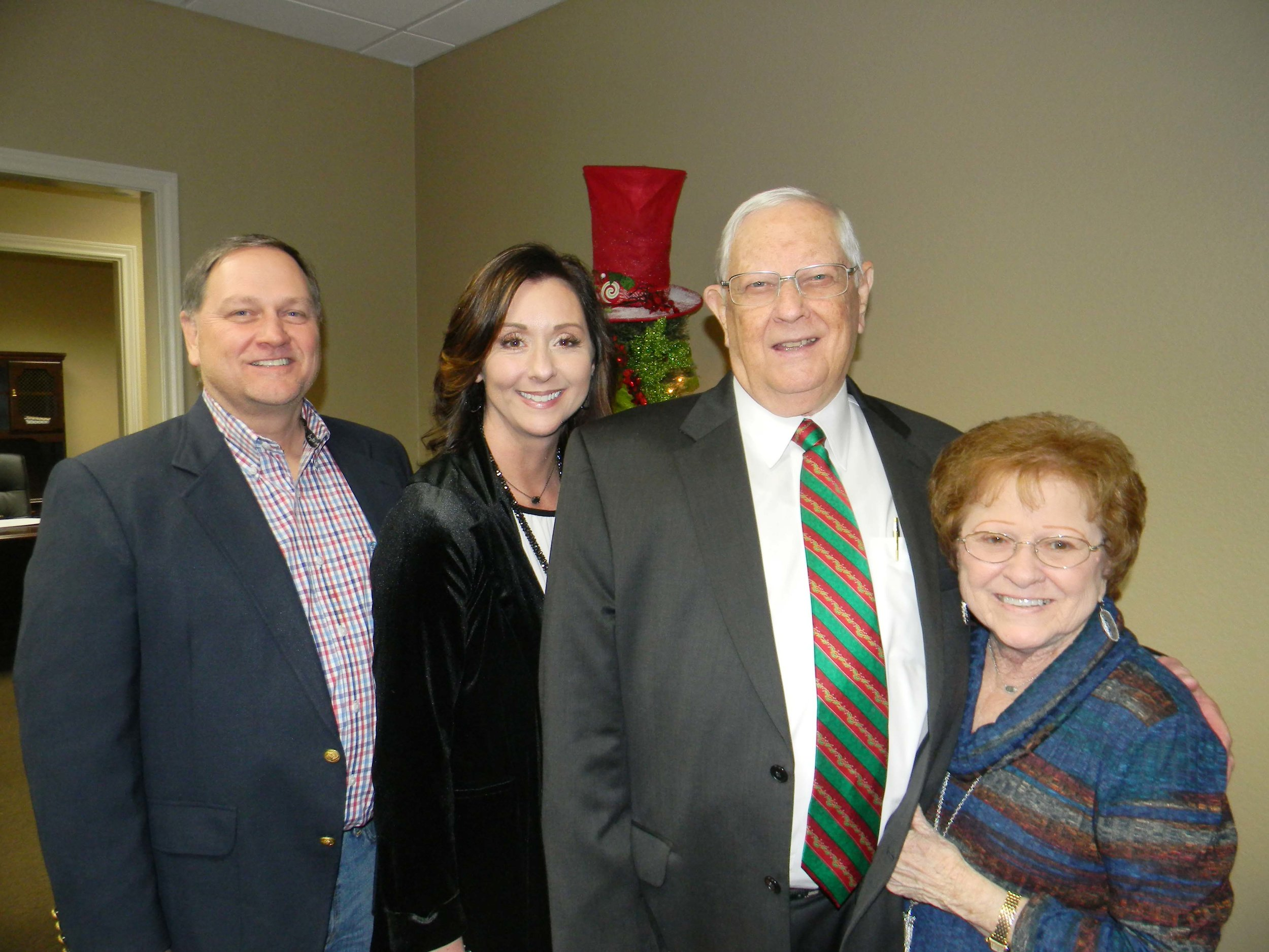 Brad and Ashley Carlow with Judge James and Nancy Carlow