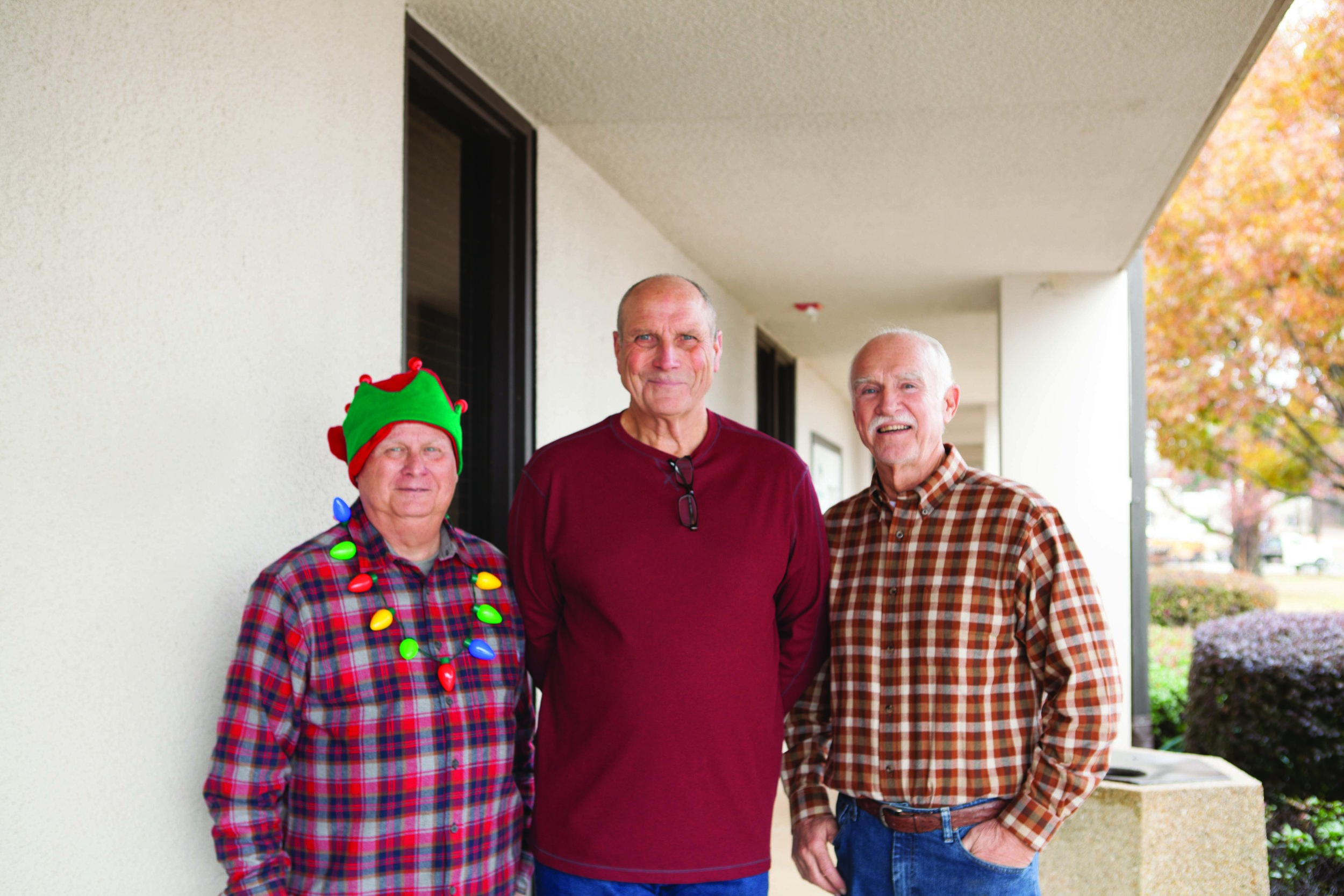 Larry Kuykendall, Fred Bristow and Olen Adams