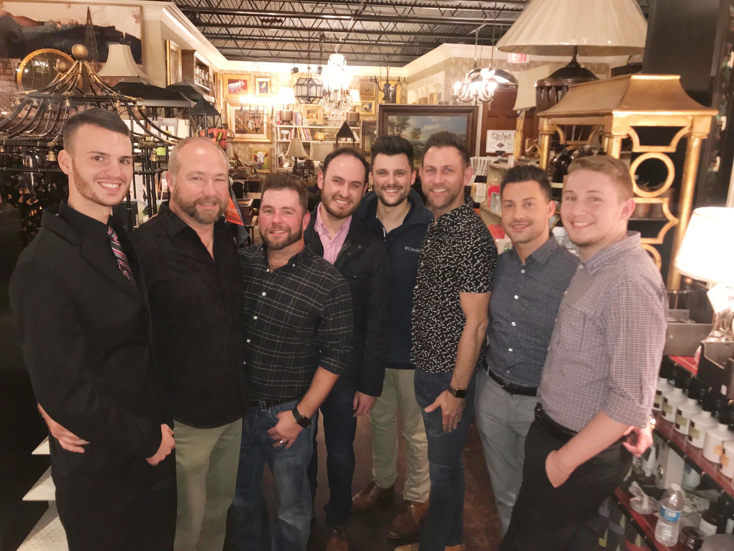Caleb Scott, Mark Missildine, Guy Wilbanks, Chase Powell, Michael Stephenson, Jay Hoy, Brandon Dixon and Lucas Sullivan