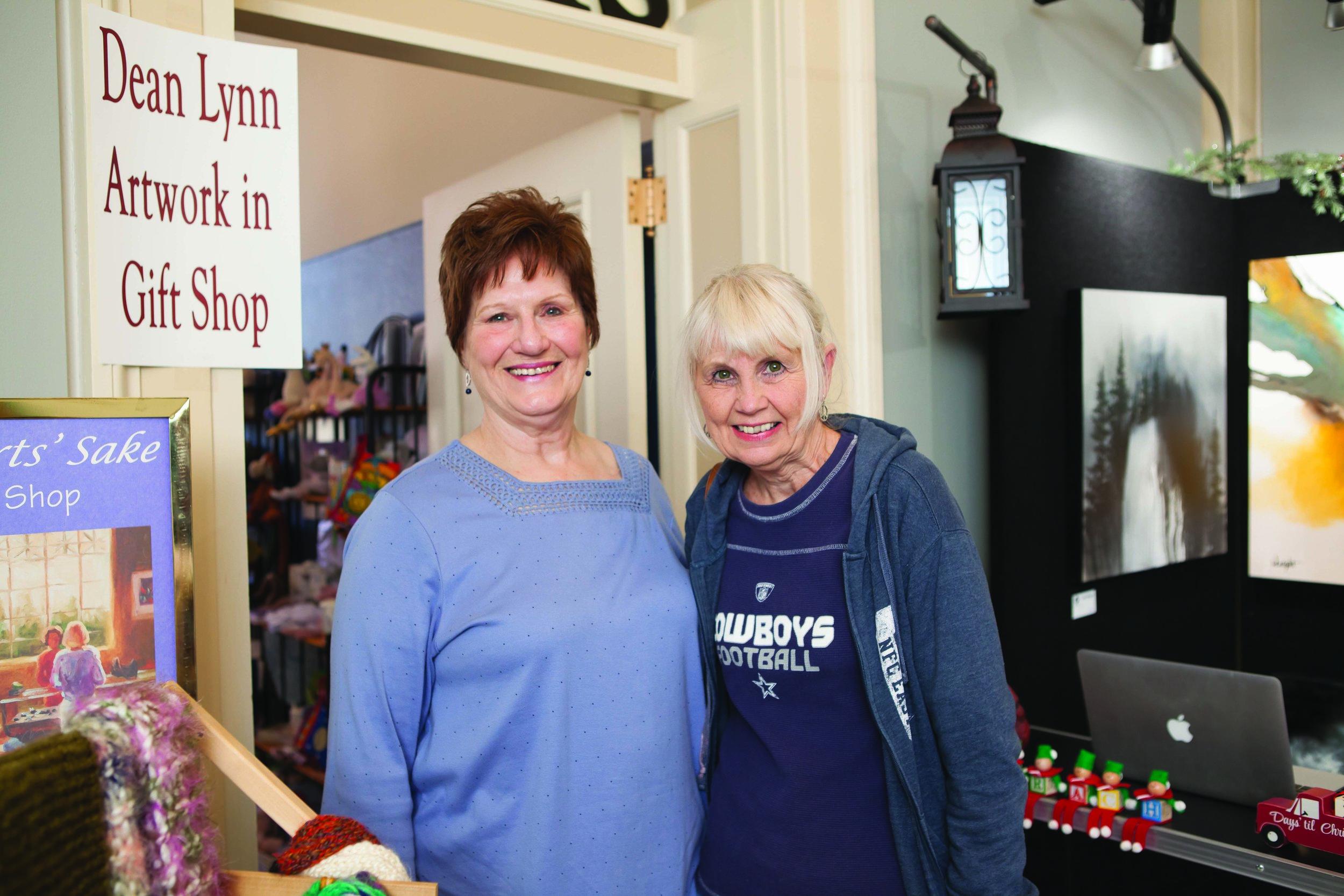 Gwen Poteet and Nancy Malone