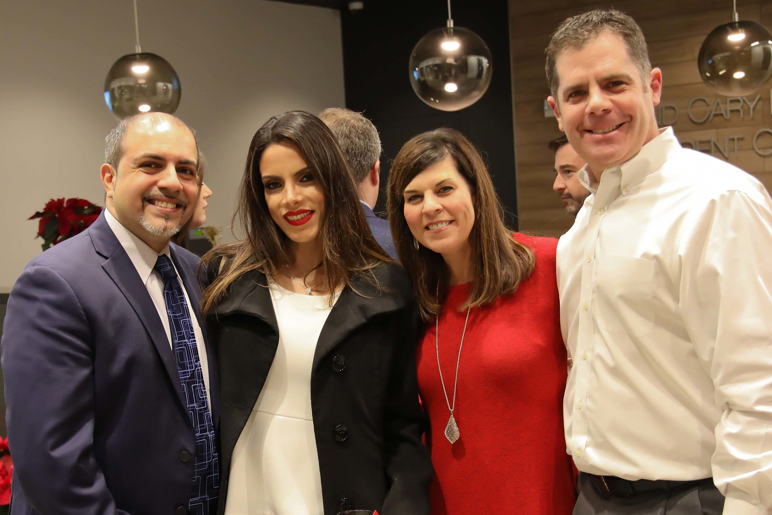 Dr. Hesham and Layla Hazin with Alison and Steve Mayo