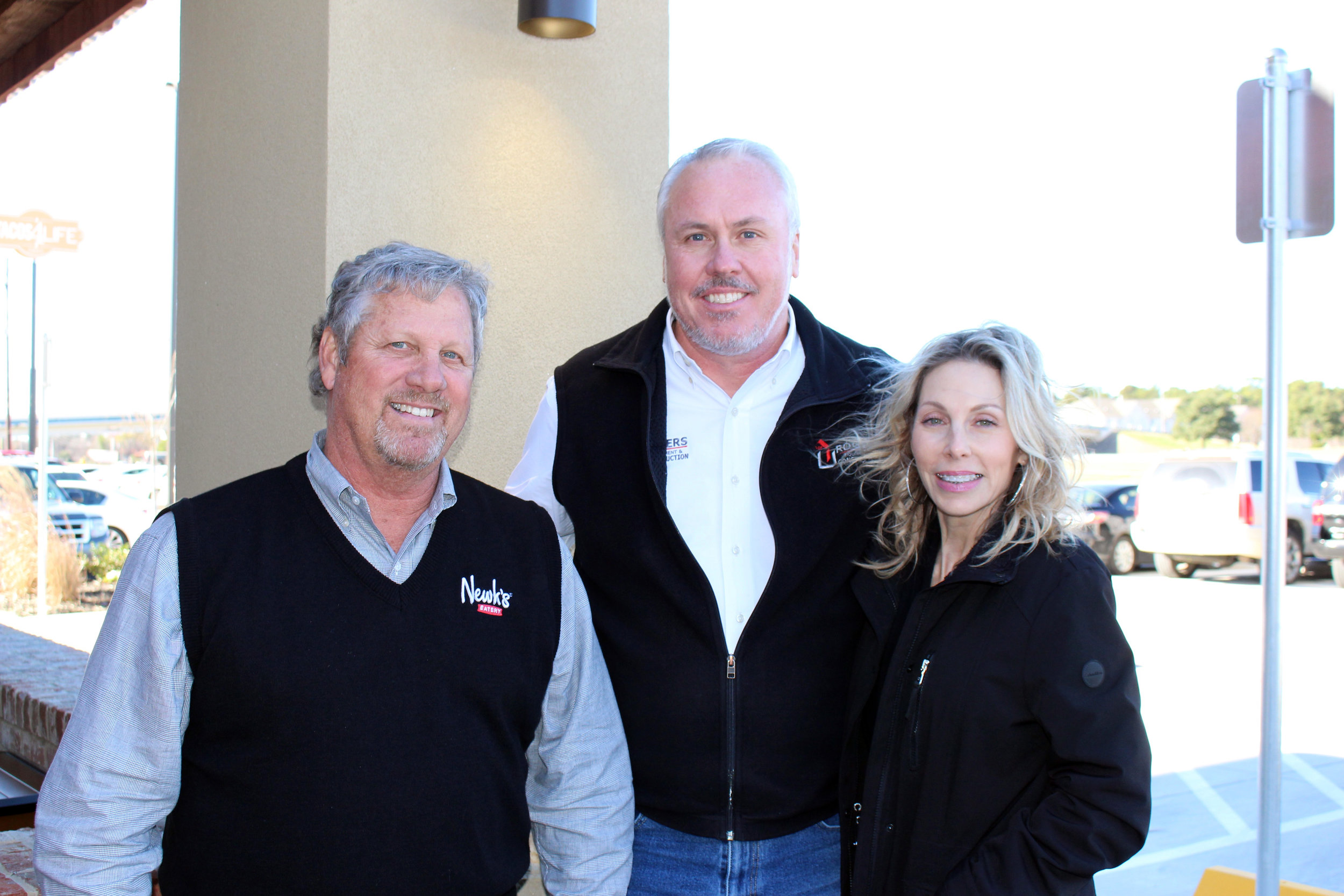 Mark Townsend, Mike Rogers and Jennifer Townsend