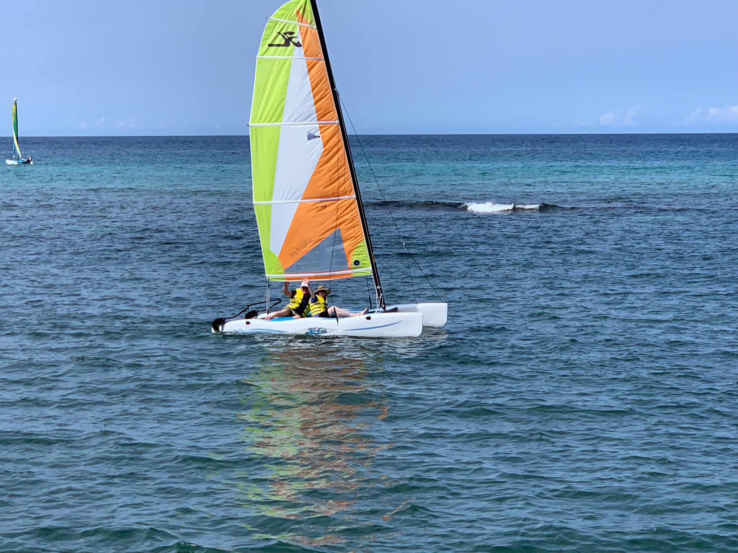 An avid sailor, Ron took Vee to Jamaica for her first sailing adventure two weeks before their wedding.