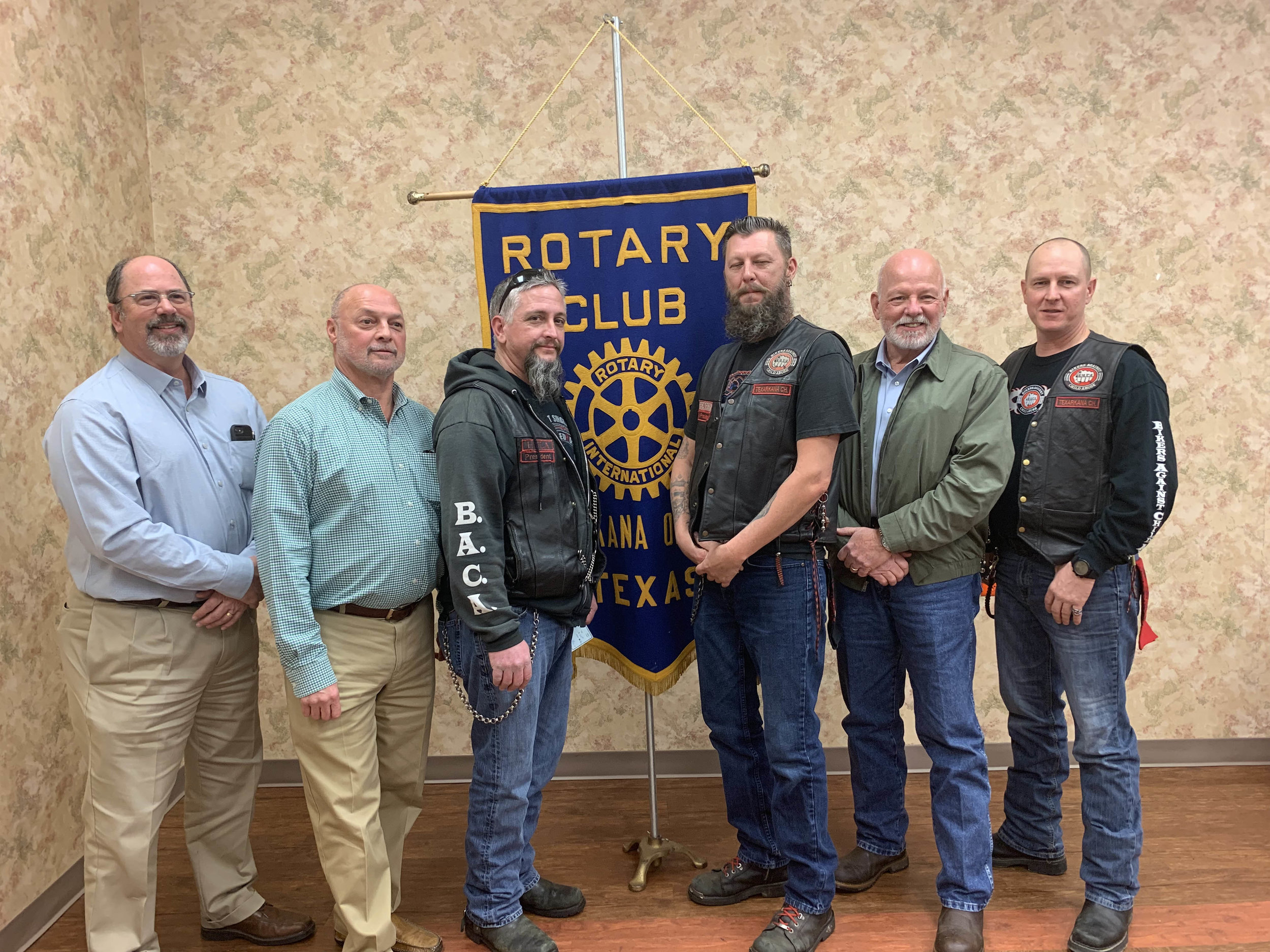 Bikers Against Child Abuse (BACA): Dr. Jim Moser, Mark Luckett, Dan Bean, Gaylon Foster, Mike Richardson and Karl Cardwell
