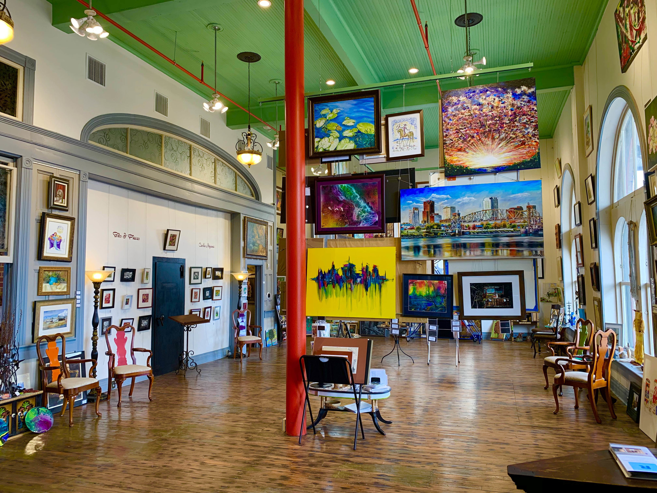 This photo shows the renovations done to the 1894 Art Gallery located inside the 1894 City Market.