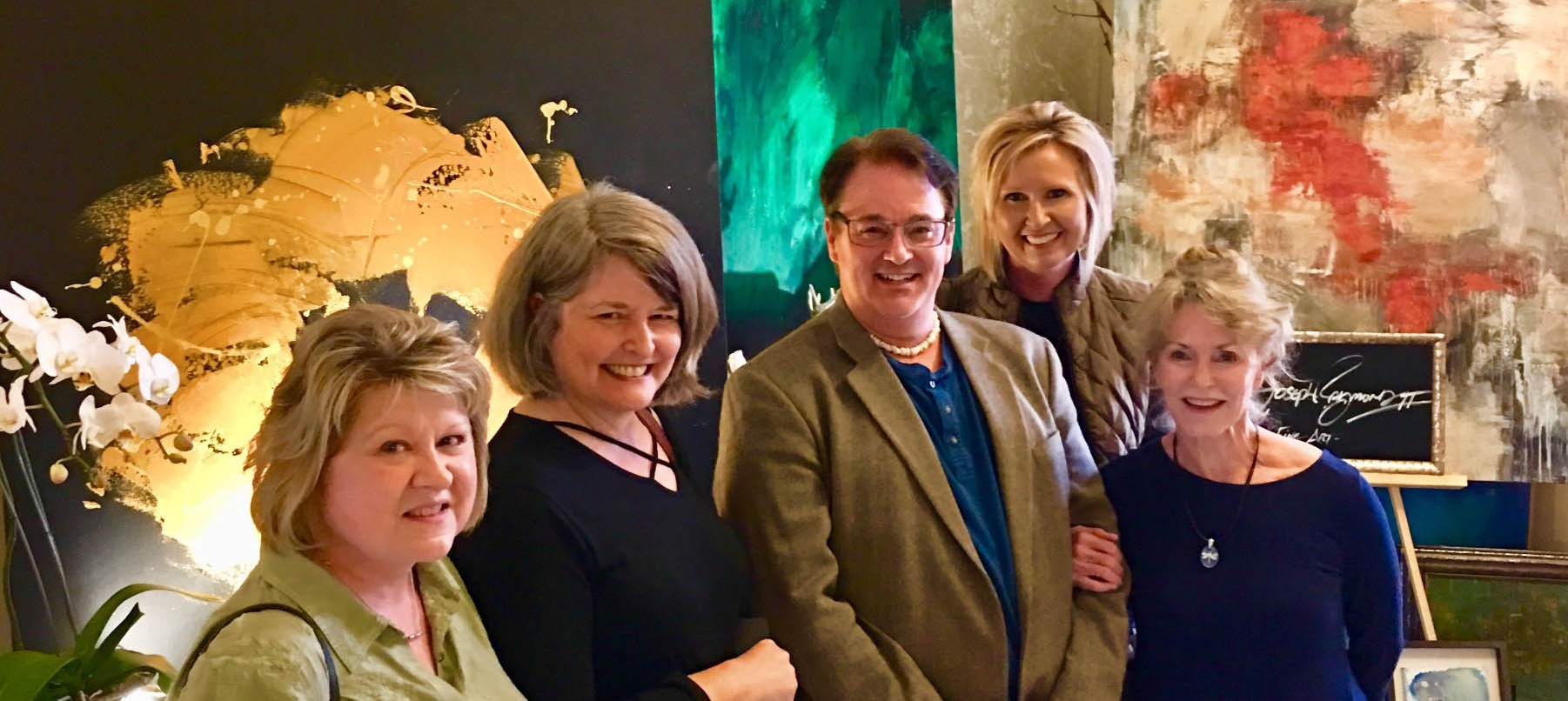 This past December, Suzan Rogers, Kathy Hudson, Christopher, Mary Beth Dwight and Stephanie Fussell attended Women for the Arts' Open House and Arts Market at the Regional Arts Center.