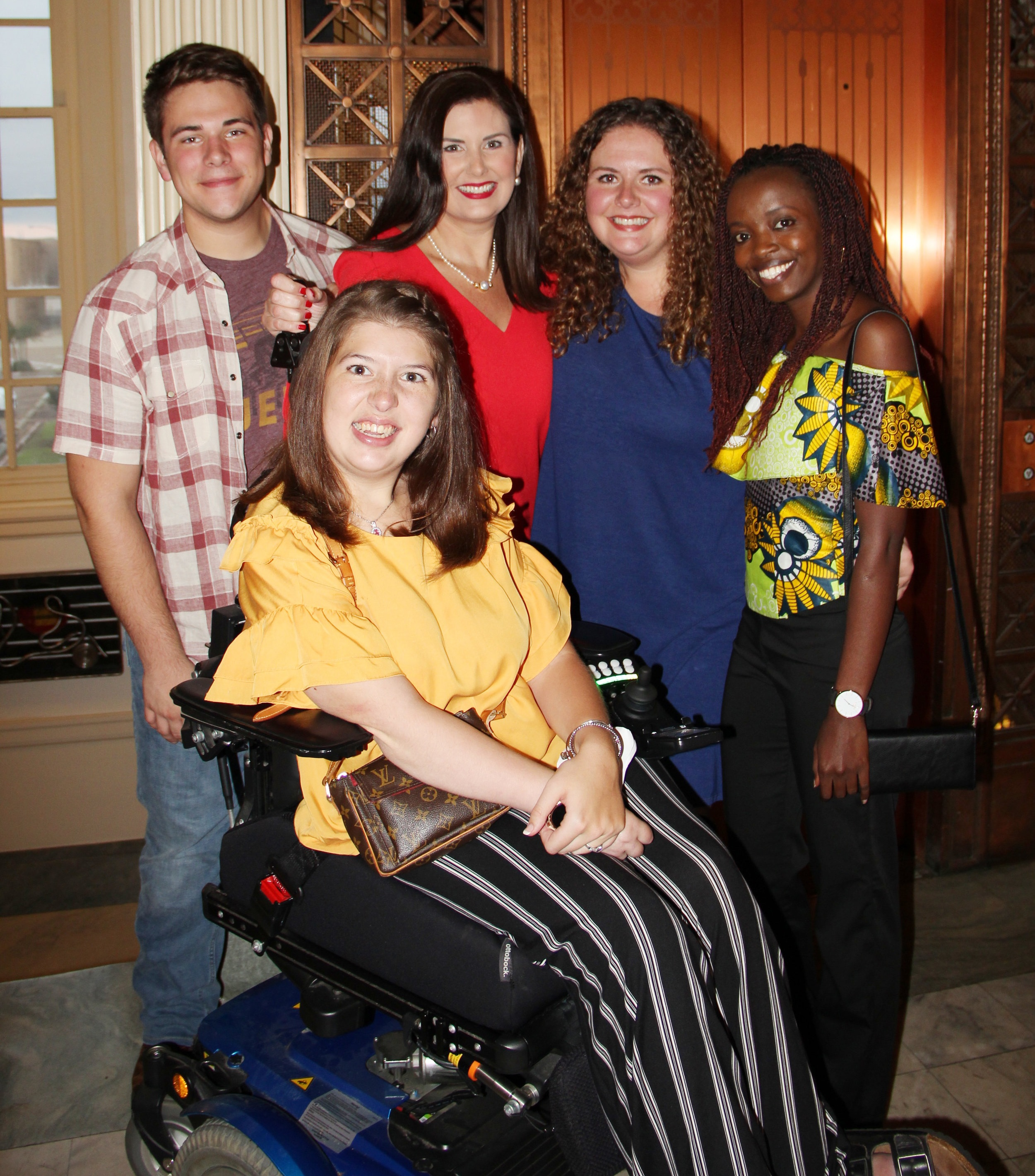 Briley Court, Robin Rogers, Emily Orr, Ellen Orr, and Gabie during  Four States Living Magazine's  25th Anniversary Celebration held September 27 in the Regional Arts Center in Downtown Texarkana.
