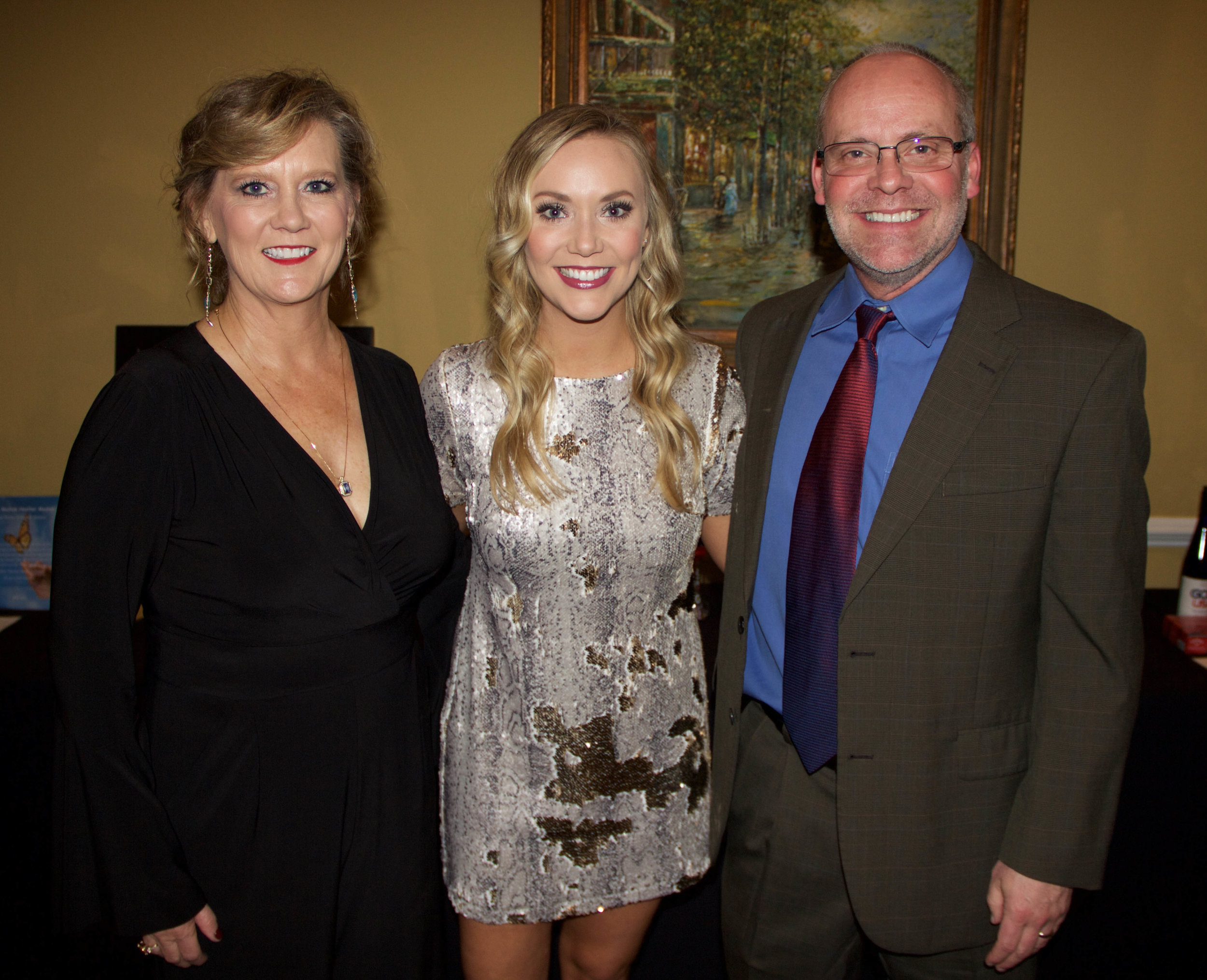 Carla Wren, Kelsey Kuhn and Dr. Mark Wren