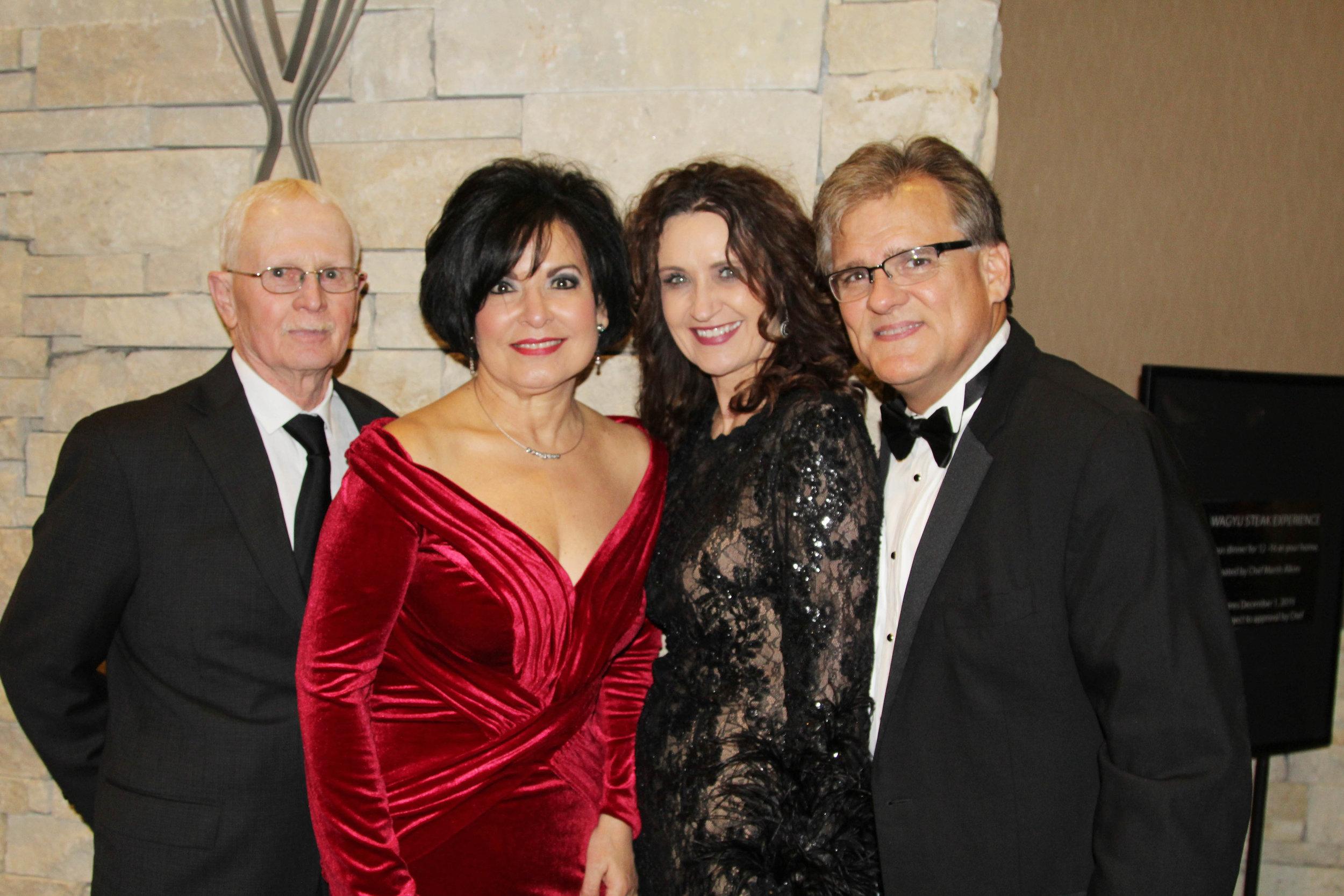 Bobby and Bertha Shipp with Terri and Greg Giles