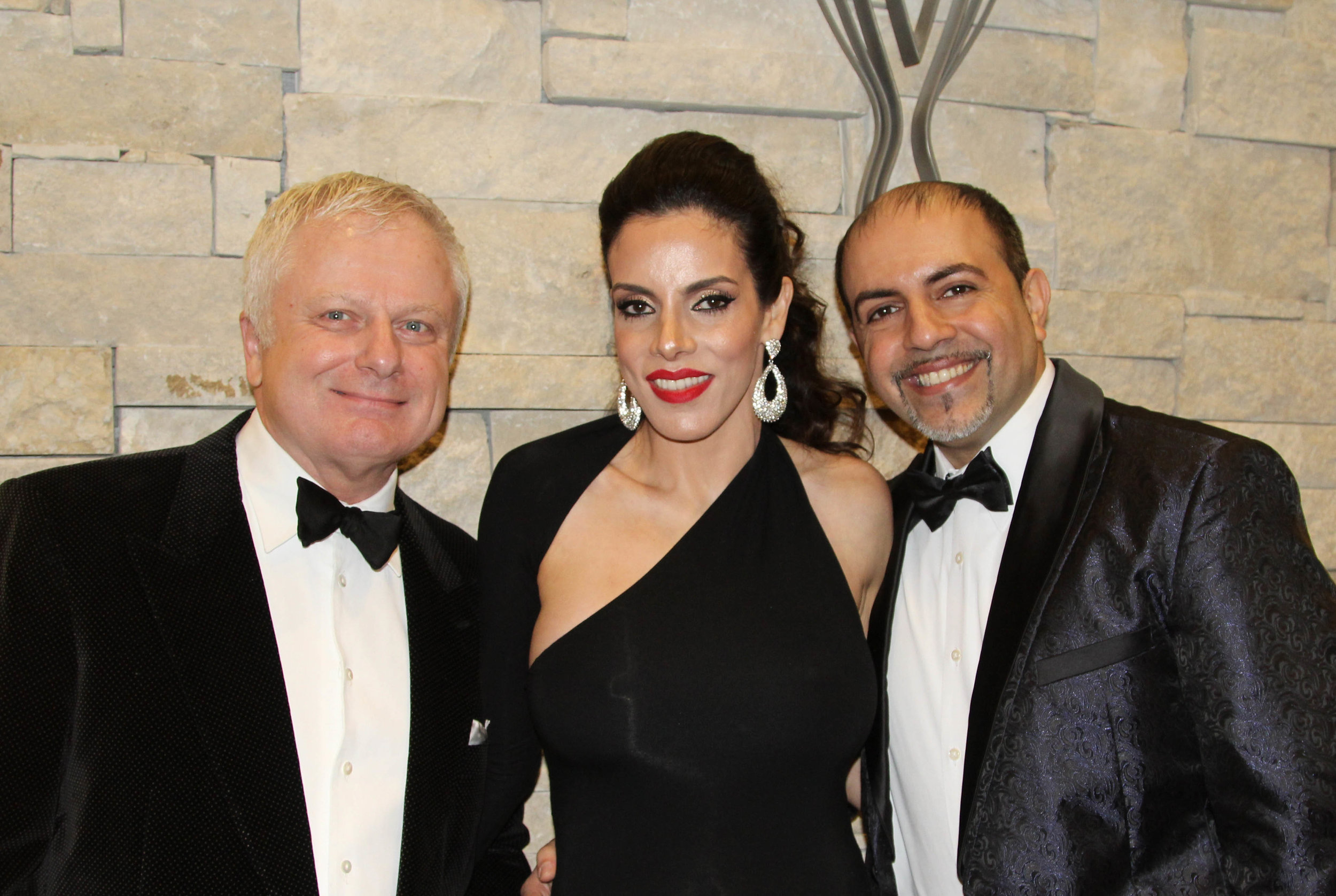 Jeff Brown with Layla and Dr. Hesham Hazin