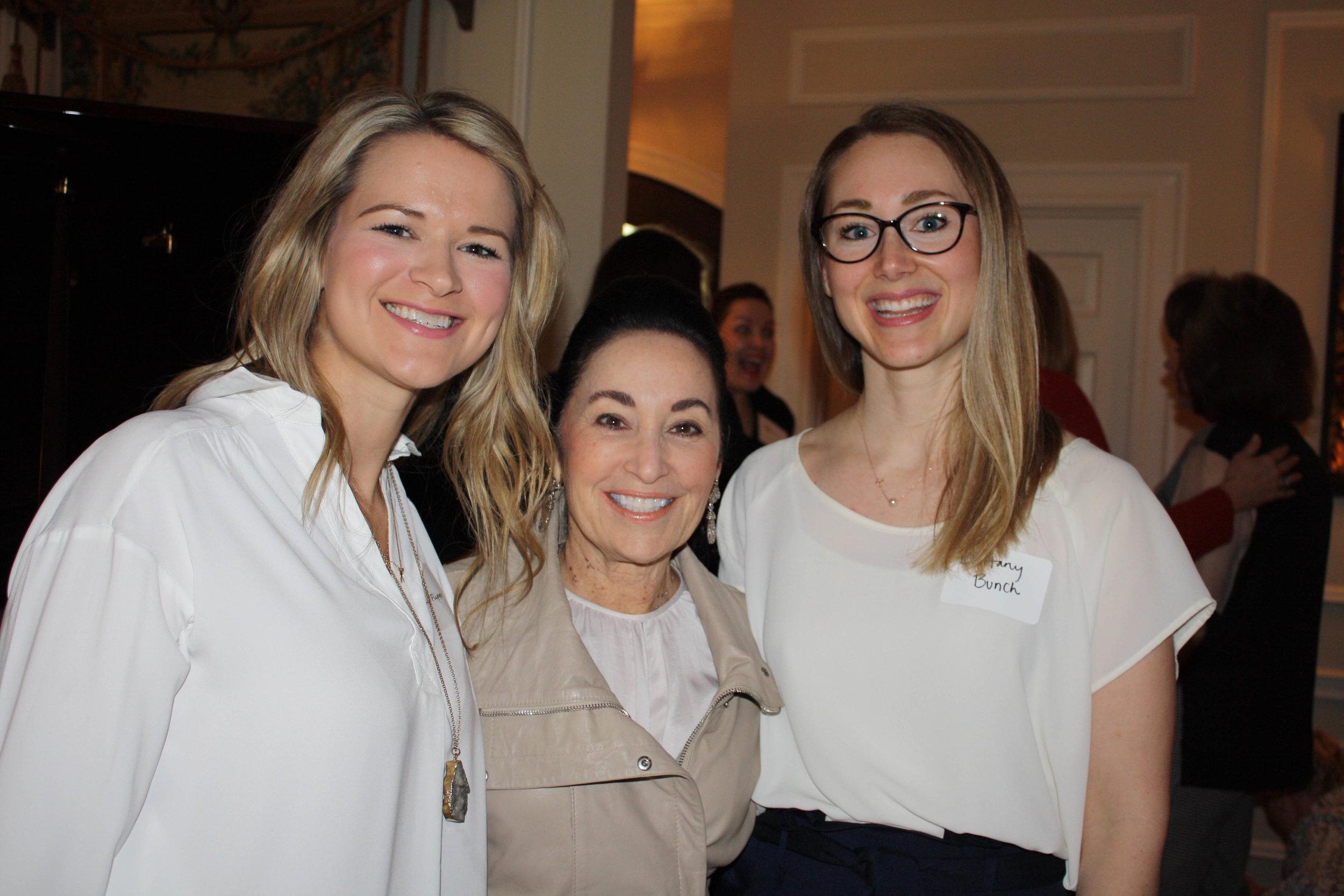 Liz Flippo, Barbara Glick and Dr. Brittany Bunch