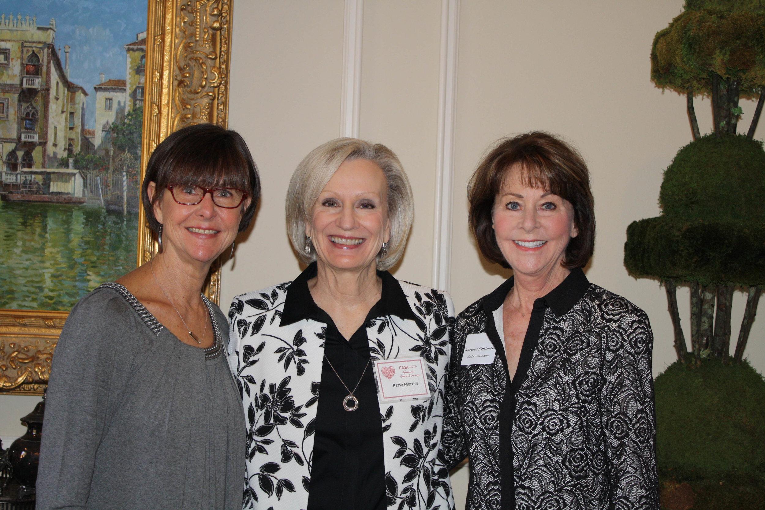 Debbie Alkire, Patsy Morriss and Karen Mittelman