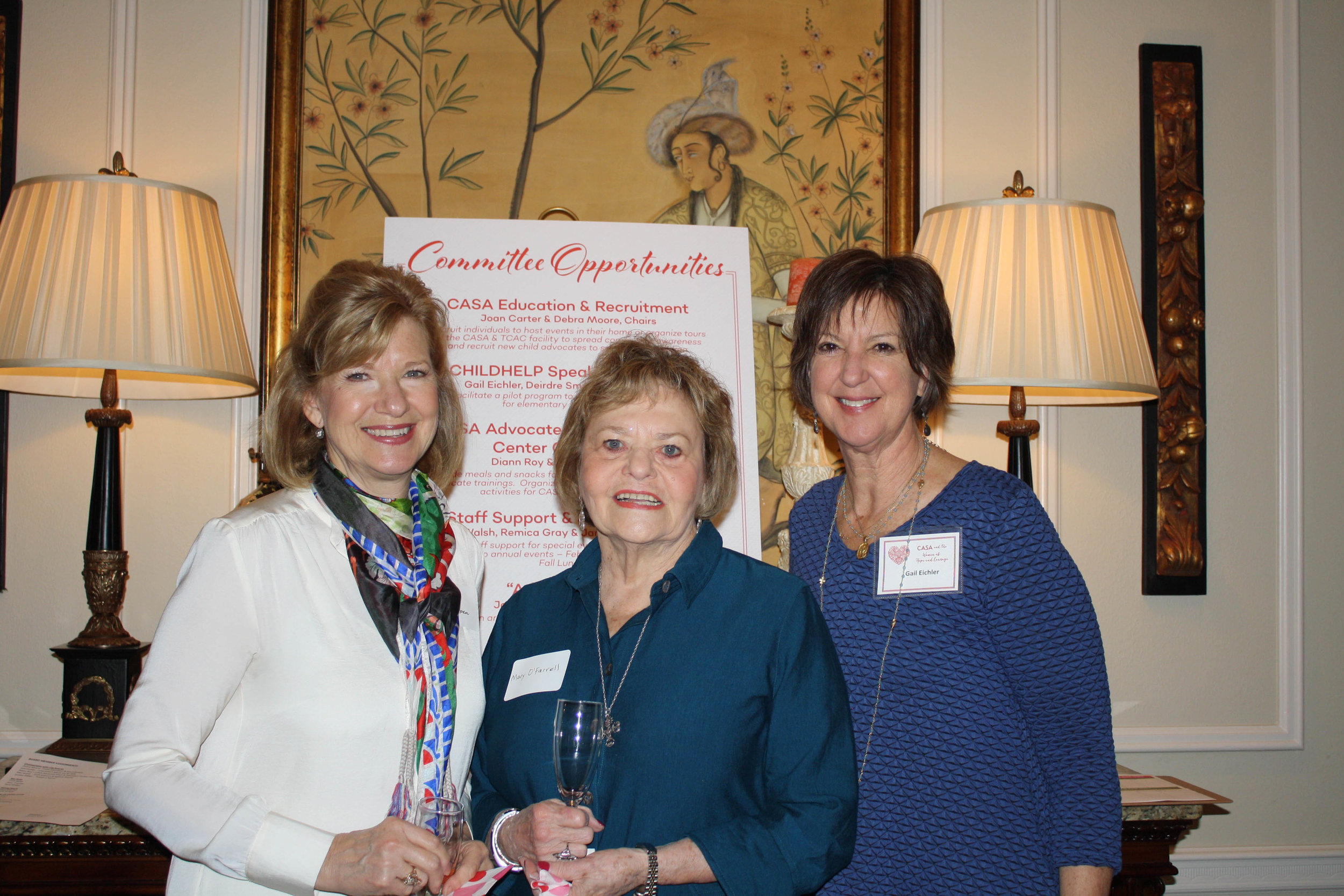 Cathy Van Herpen, Mary O'Farrell and Gail Eichler