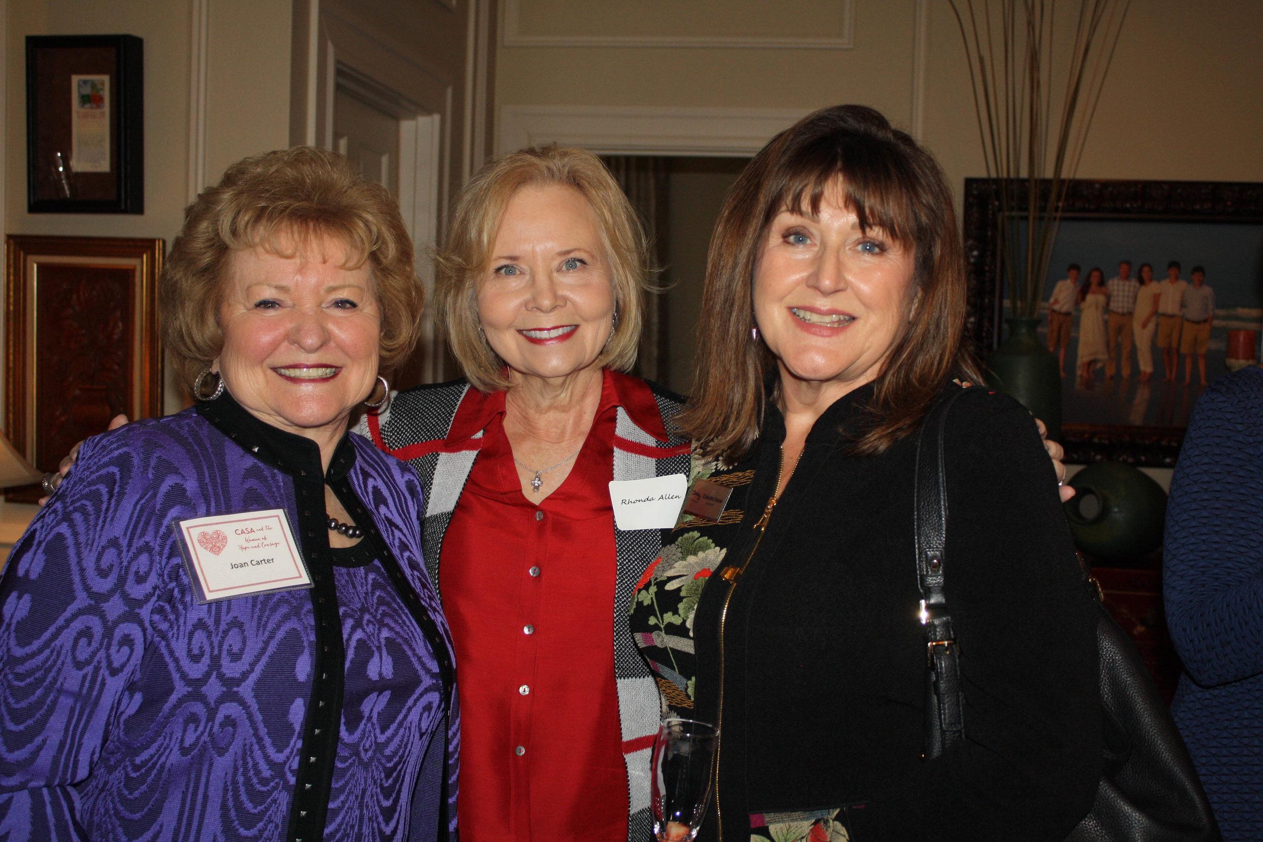 Joan Carter, Rhonda Allen and Claudia Snow