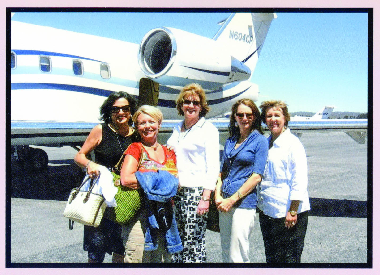 Julia Carpenter, Jill Hoover, Tricia Leonoudakis, Stephanie James and Becky Blake traveled to Pebble Beach to celebrate 25 years of playing Bunco together.