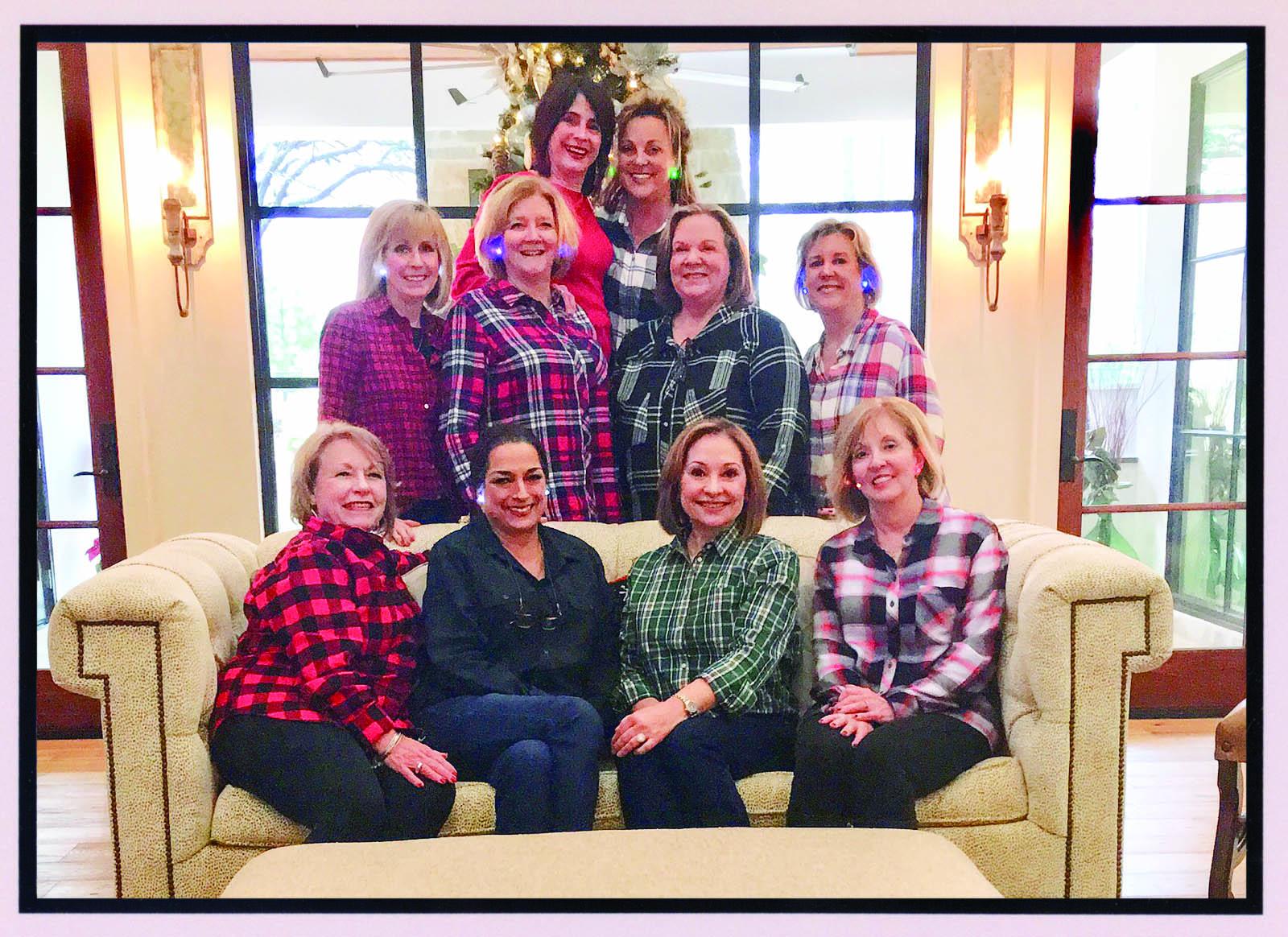 On December 20, 2018, Bunco members enjoyed celebrating the Christmas season at Karen Schmidt's home.