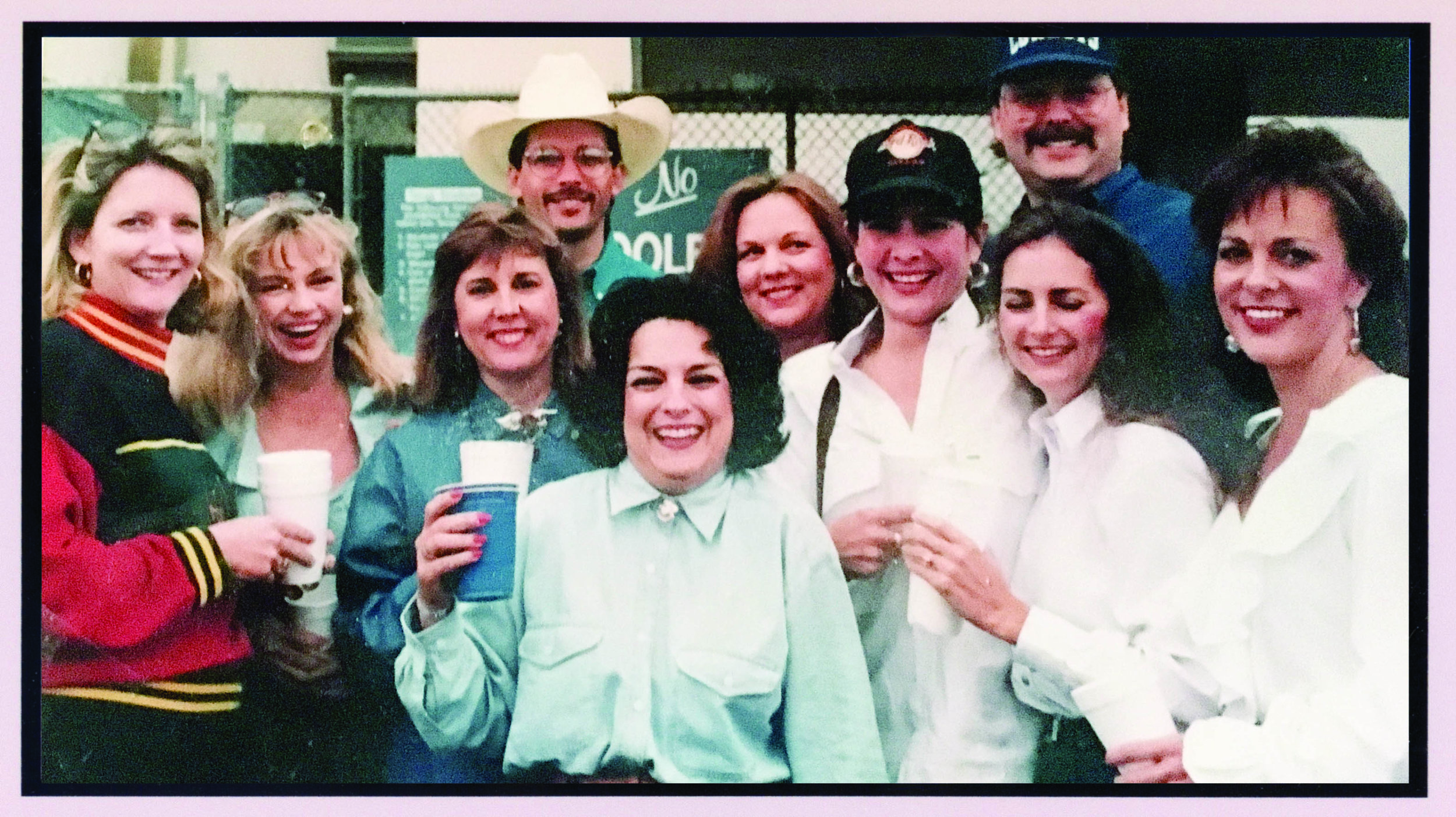 In 1998, many of the Bunco group members and their spouses attended a Texas Rangers baseball game.
