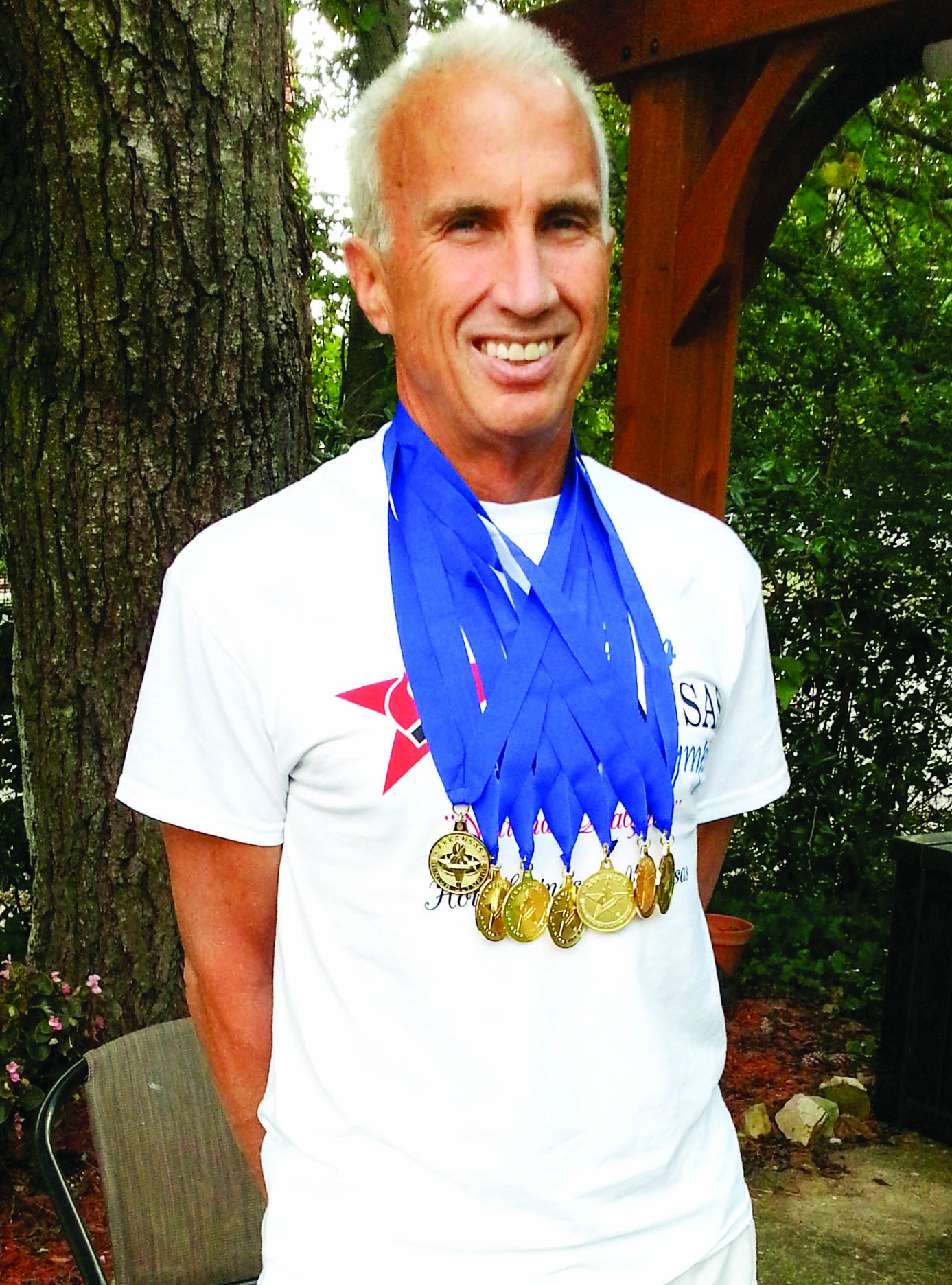 In 2014, Lee went to the Arkansas Senior Olympic Games and received five swimming gold medals and two cycling gold medals which qualified him for the Senior Nationals which were held in Minnesota in 2015.