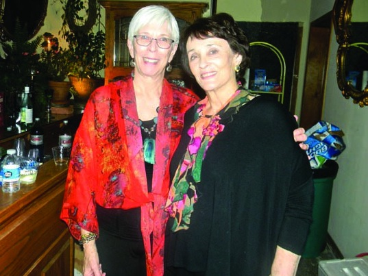 Betty Jo (right) celebrating her sister Francie Fite's birthday in Tahlequah, Oklahoma.