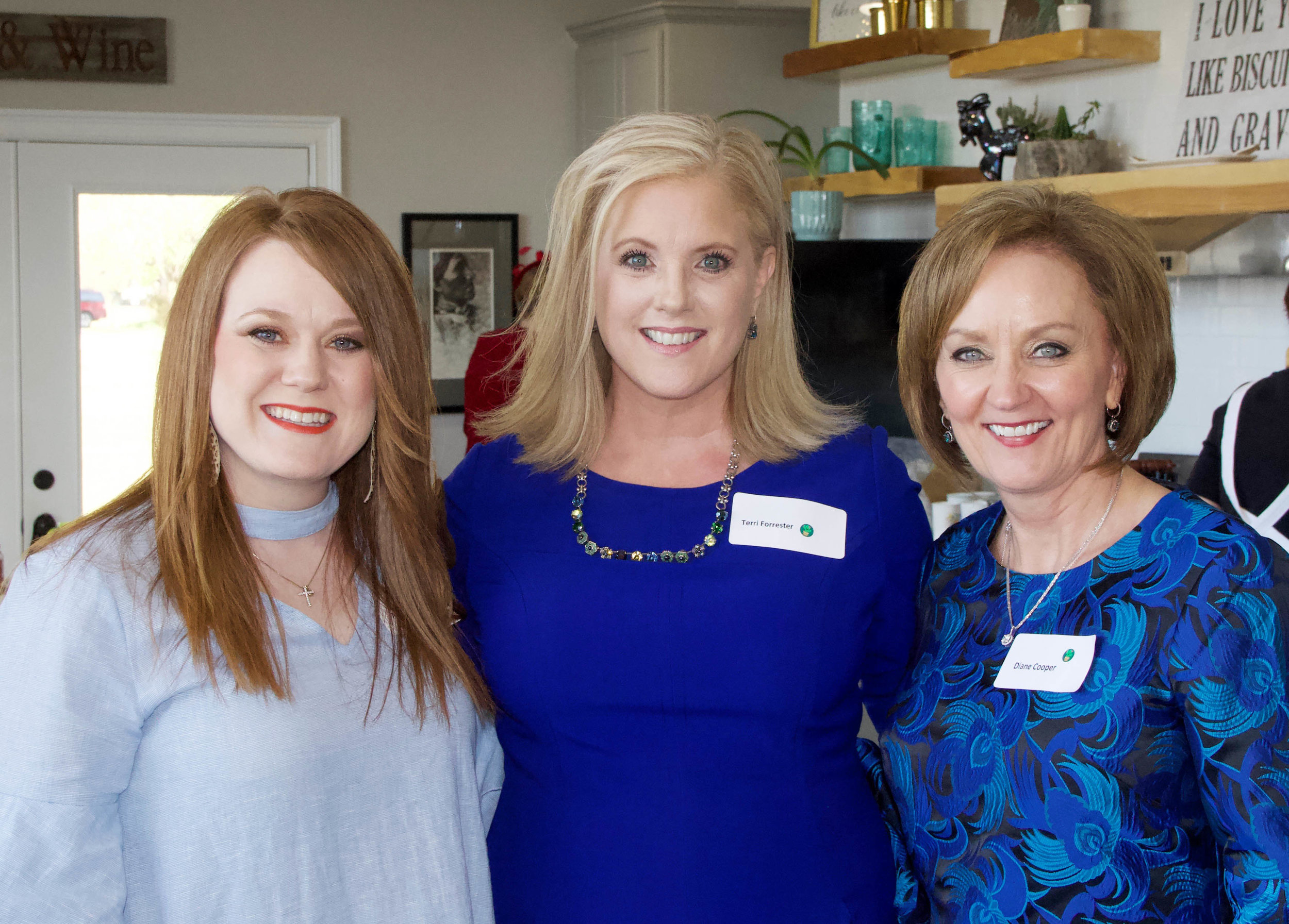 Amy Lawrence, Terri Forrester and Diane Cooper