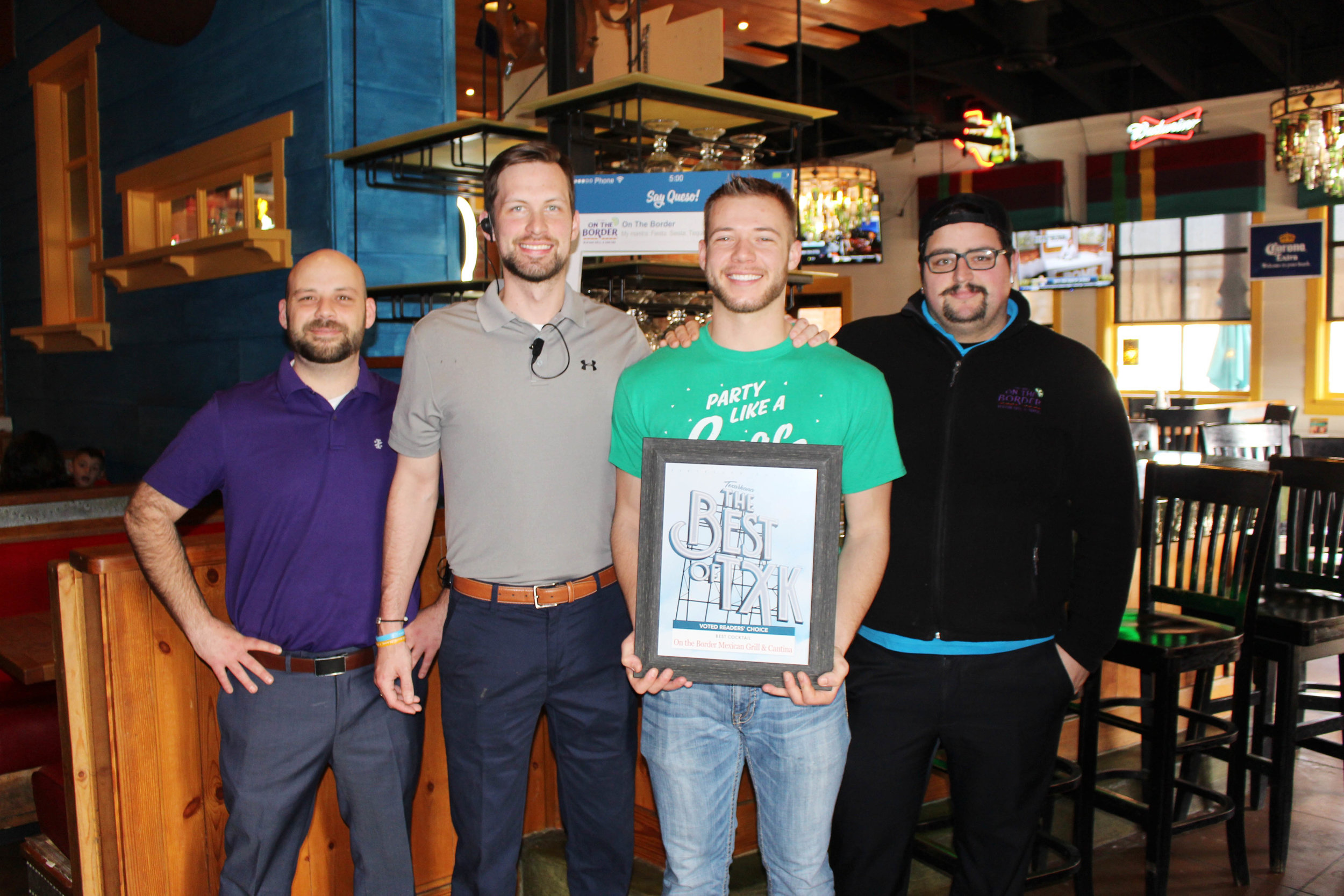 ON THE BORDER MEXICAN GRILL & CANTINA – Luke Lavay, Ryan Peacock, Ryan Williams and Cody Shippey