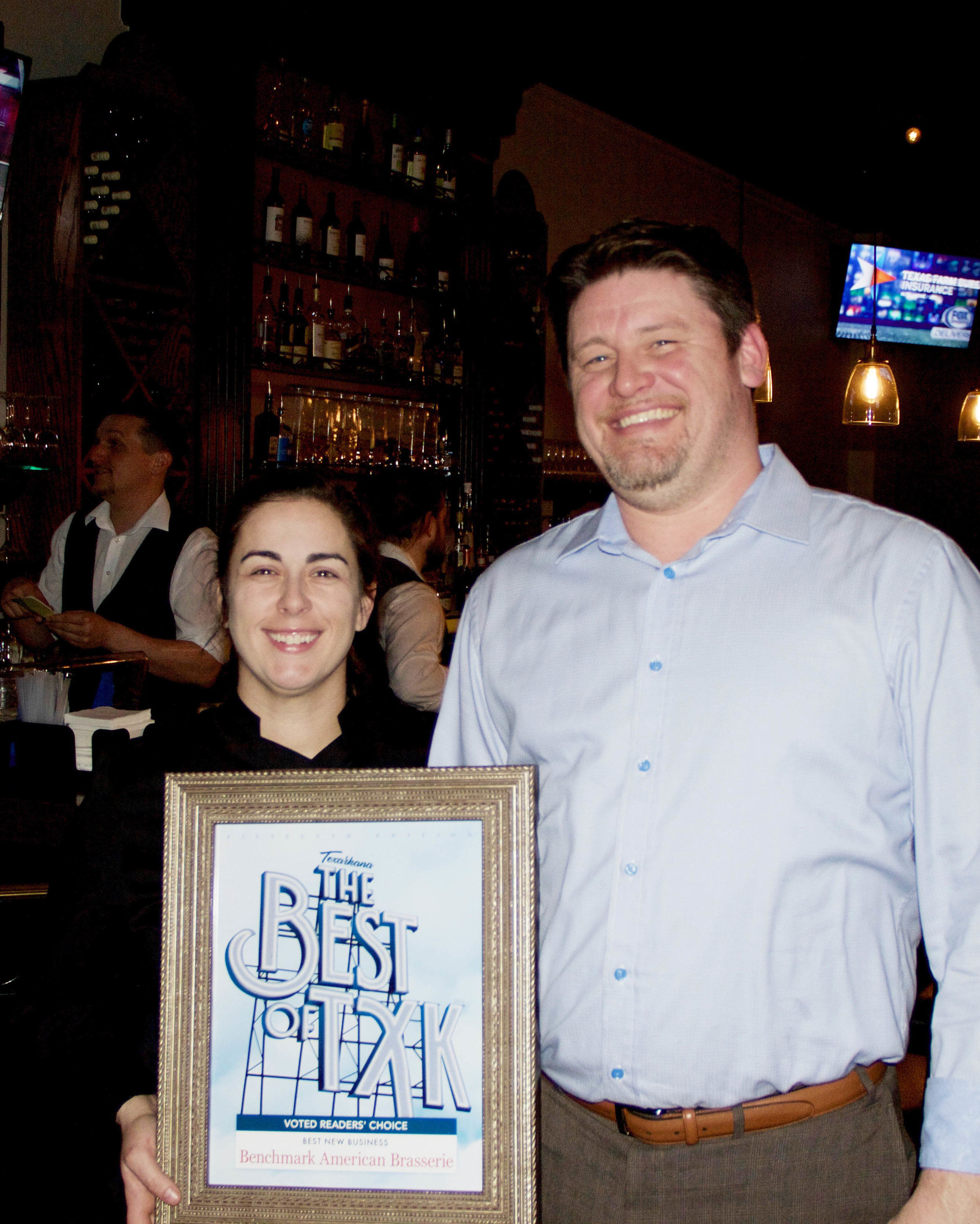 BENCHMARK AMERICAN BRASSERIE – Chef Becky and Jason Williams