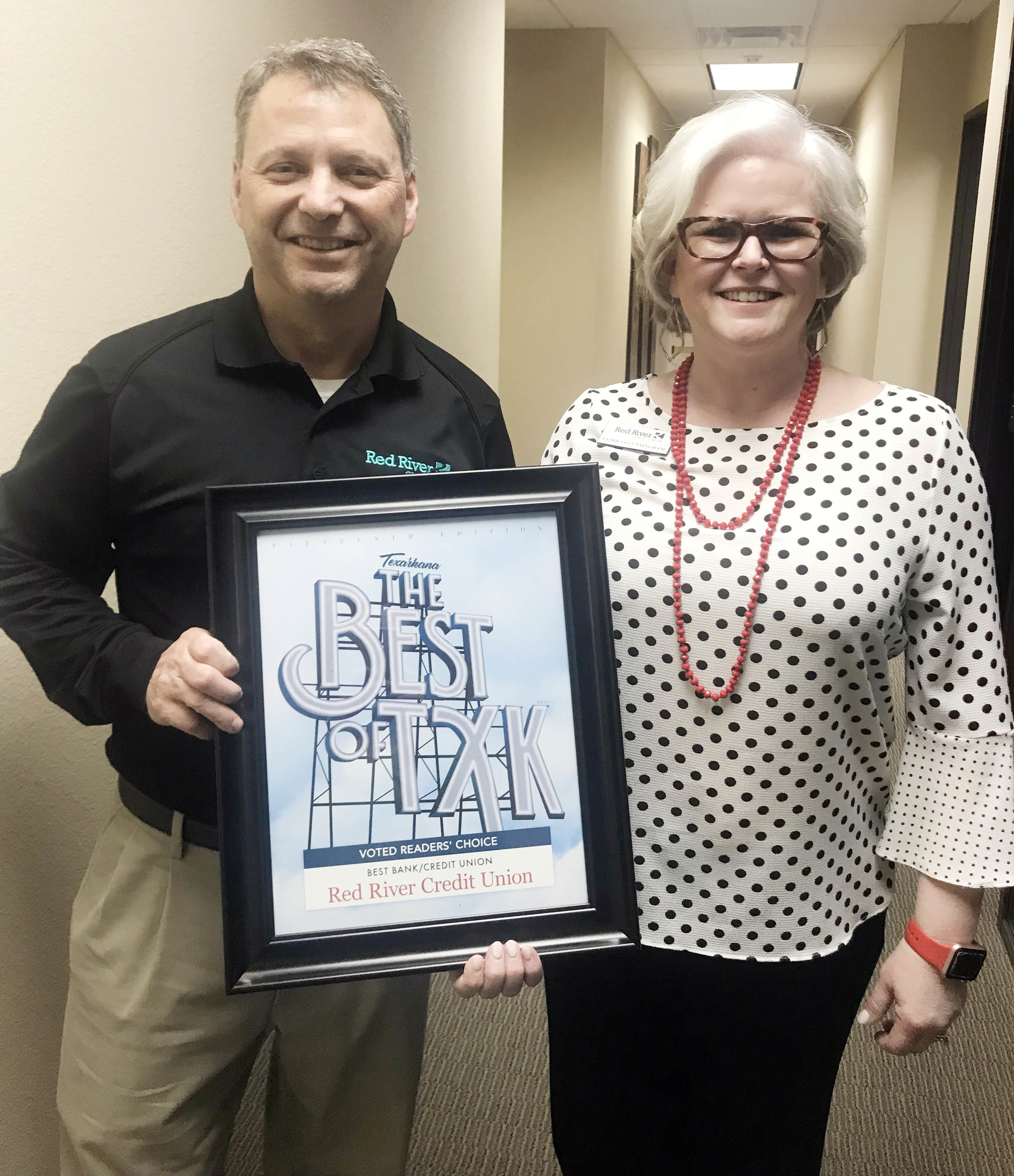 RED RIVER CREDIT UNION – Brad Bailey and Patricia Cunningham
