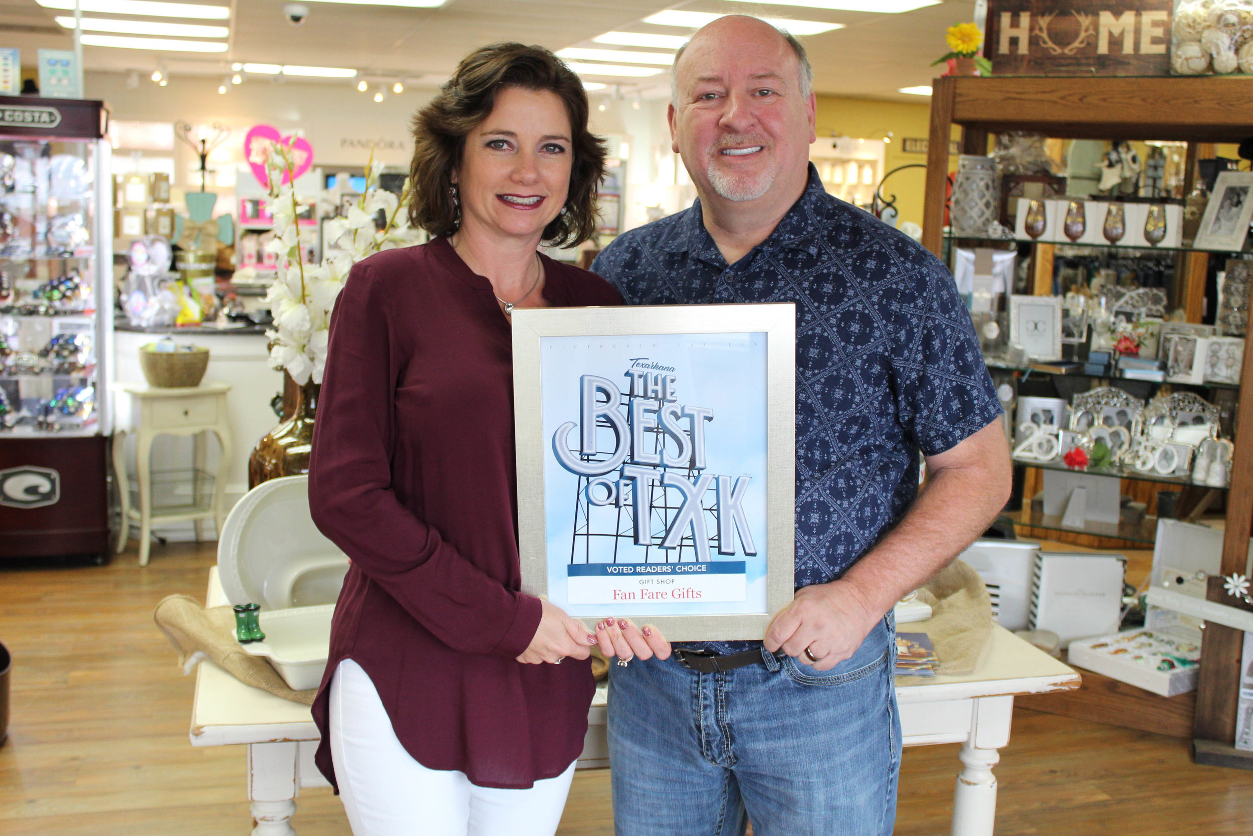 FAN FARE GIFTS – Lesa and Tony Asbille