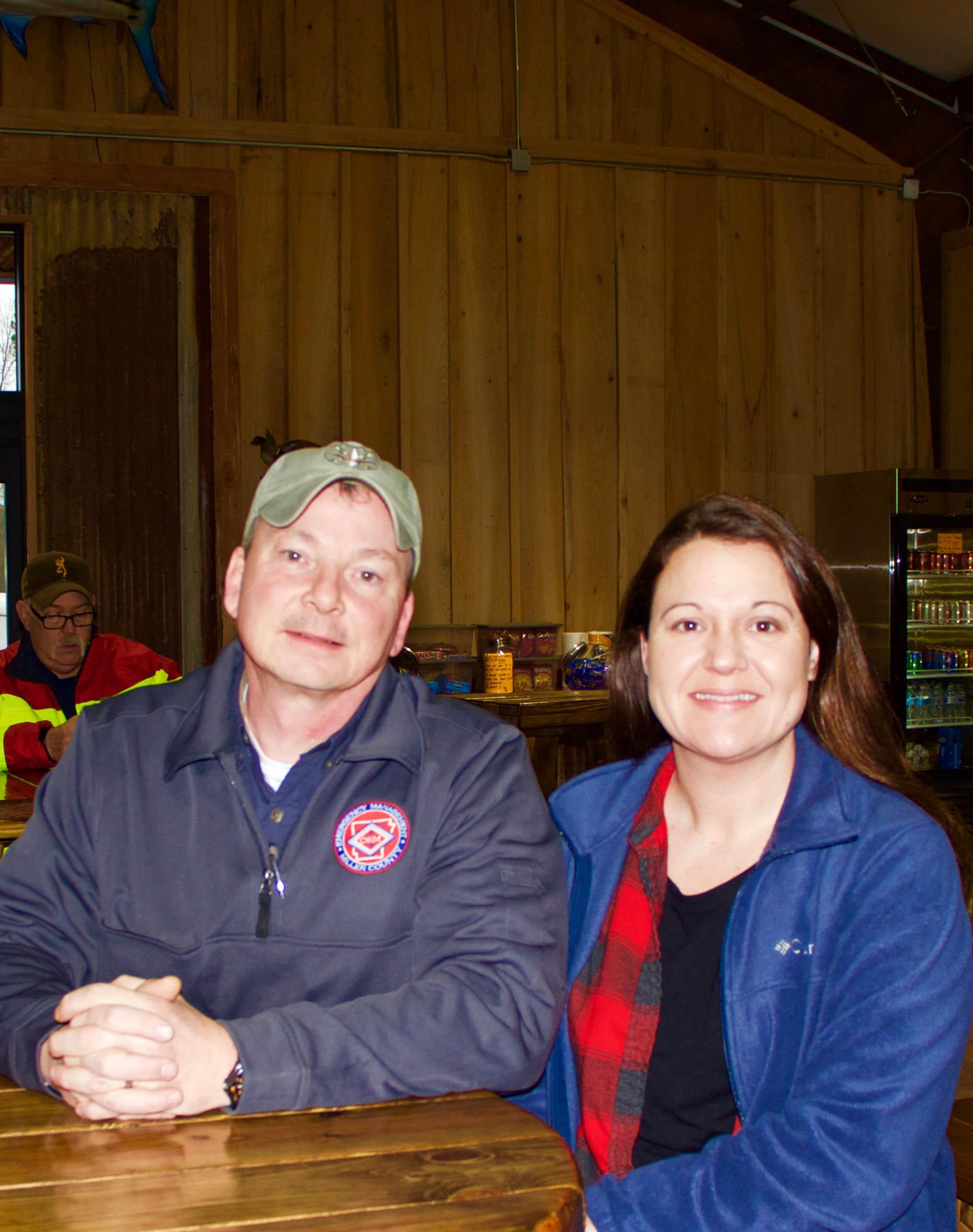 Miller County Office of Emergency Management Coordinator Joe Bennett and Texarkana Arkansas Police Department Sergeant Kristi Bennett