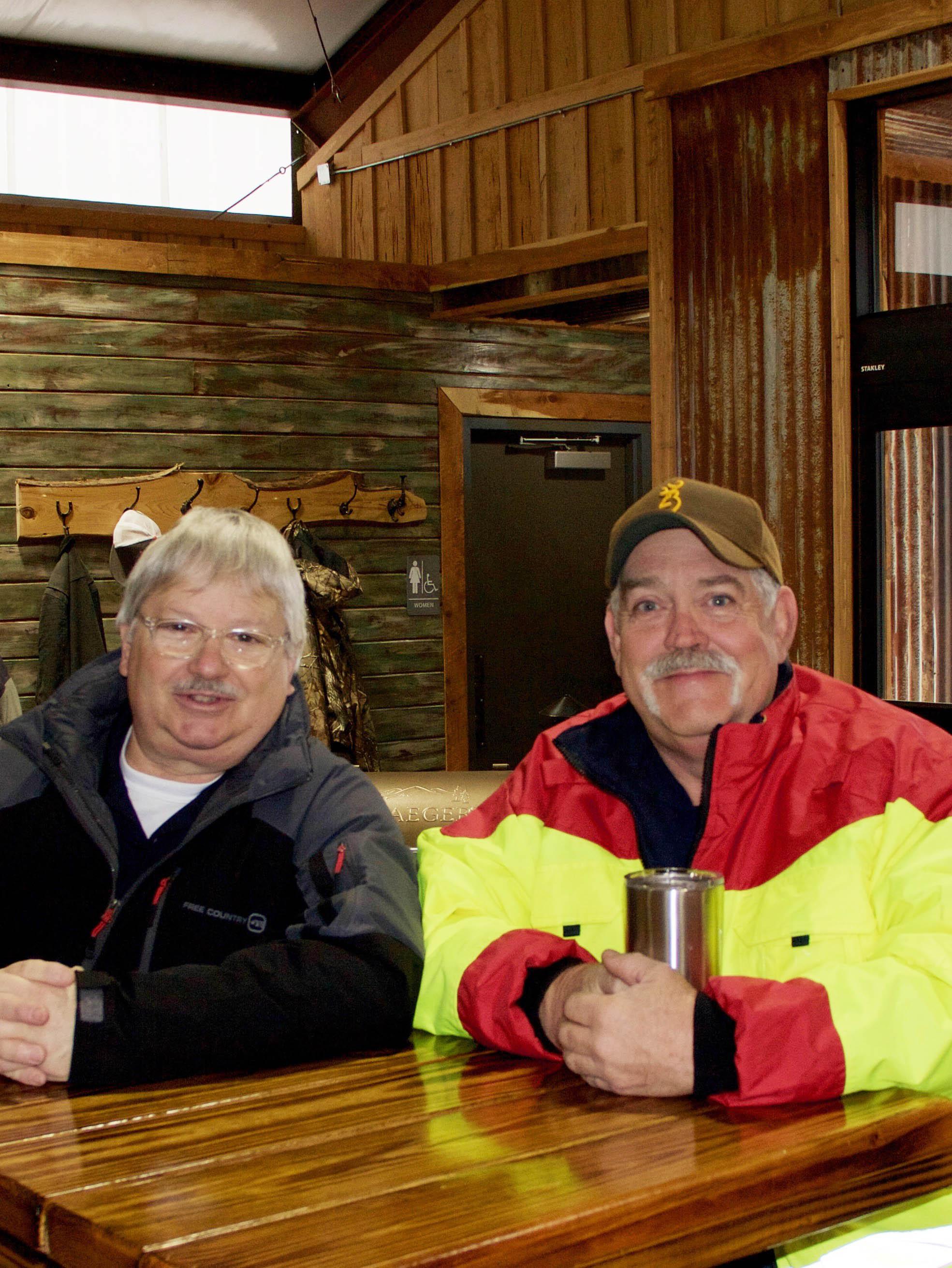 C5 Volunteer Fire Department Lieutenant Michael Gilley and Captain Mitch Akin
