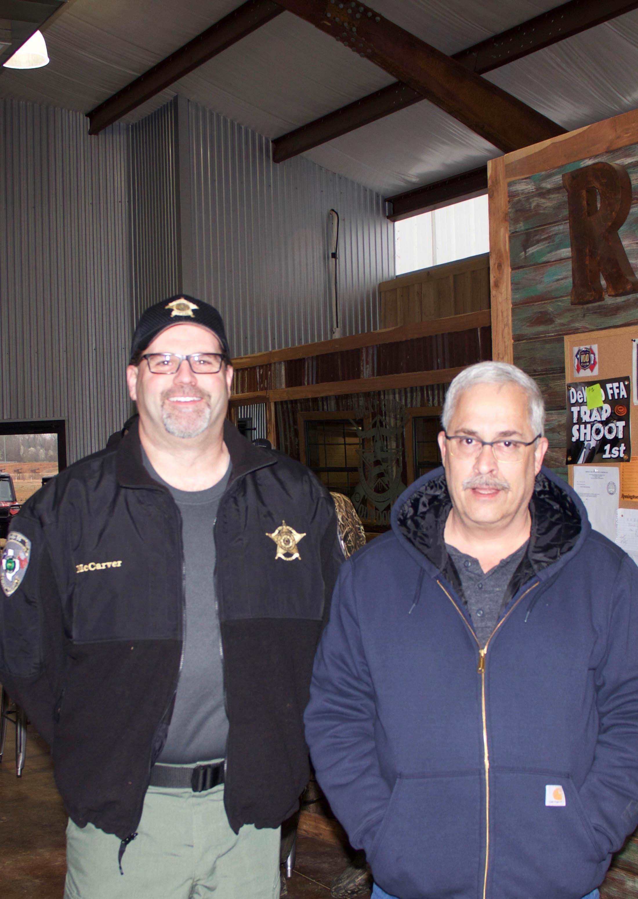 BCSO Captain Robby McCarver and Texas A&M-Texarkana Police Department Sergeant Ed Emilia