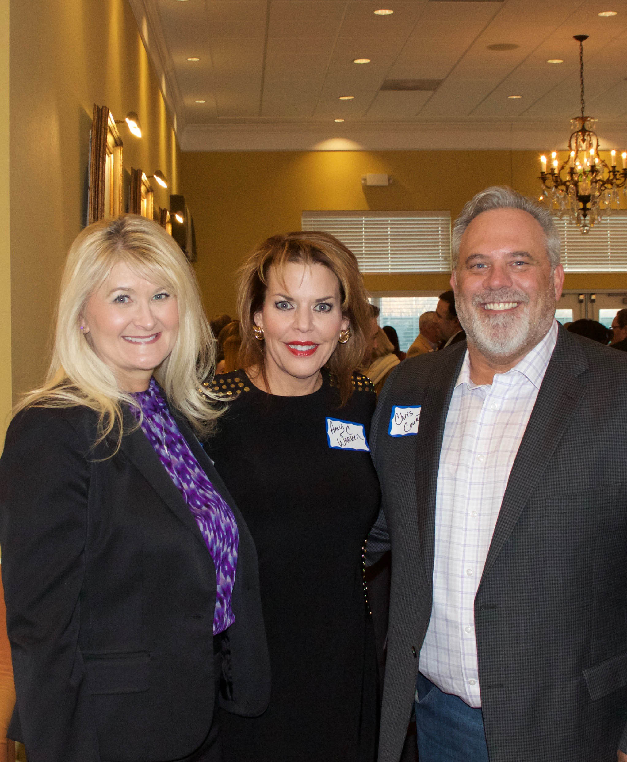 Lisa Sitterley, Amy Warren and Chris Court