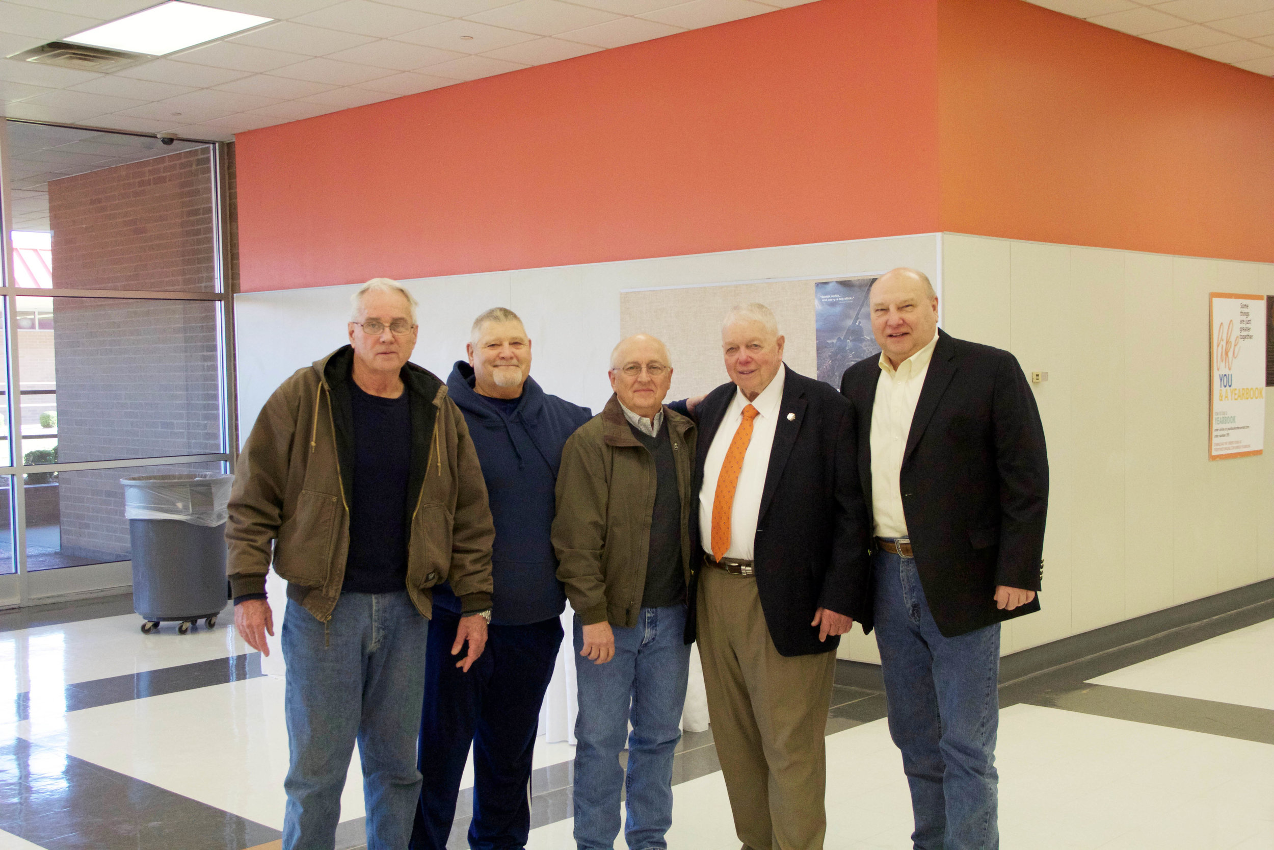 Ron Burnett, Danny McWilliams, Dr. Tommy Reynolds, Allen Nance and David Easley