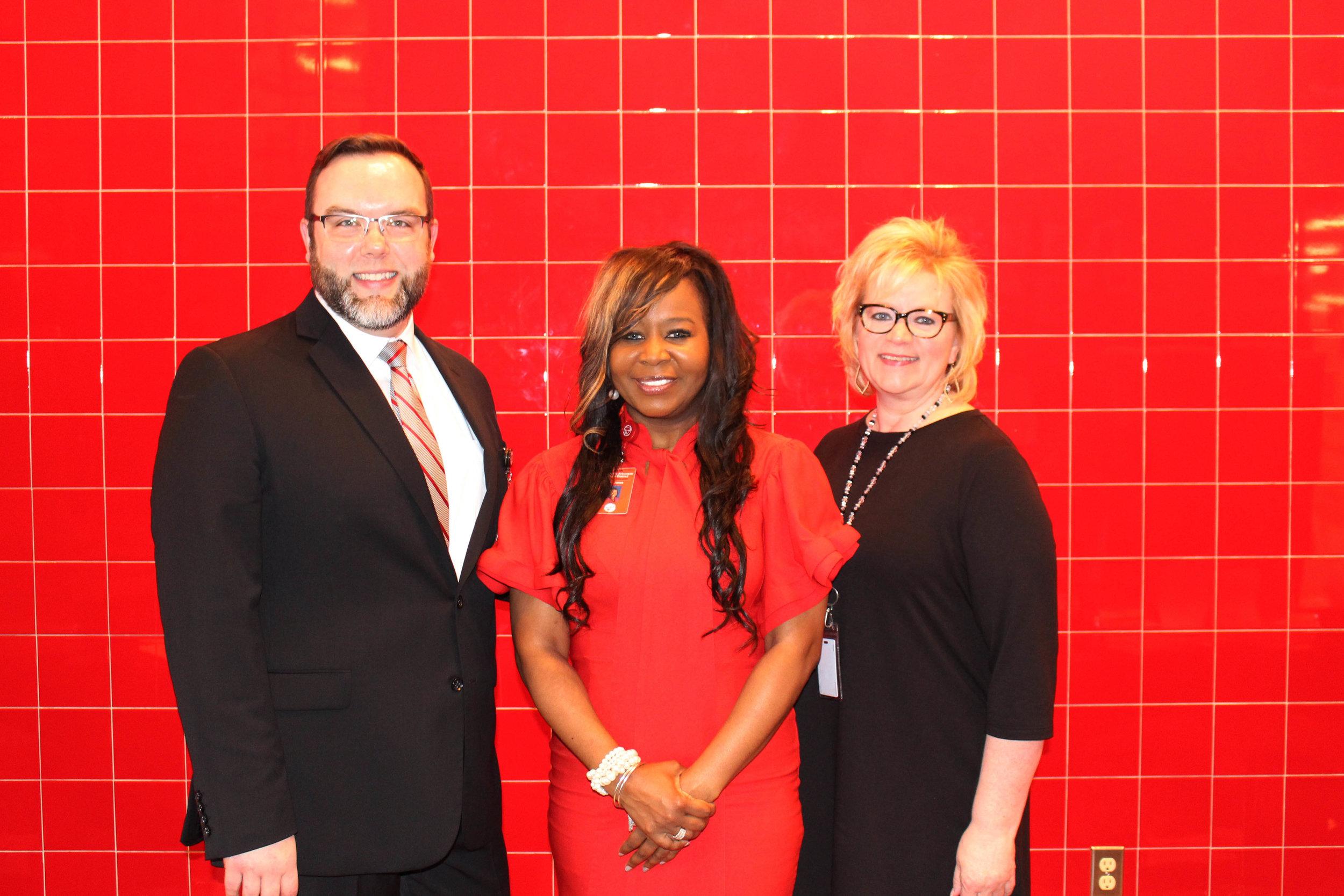 Michael Odom, Lekia Jones and Carol Miller