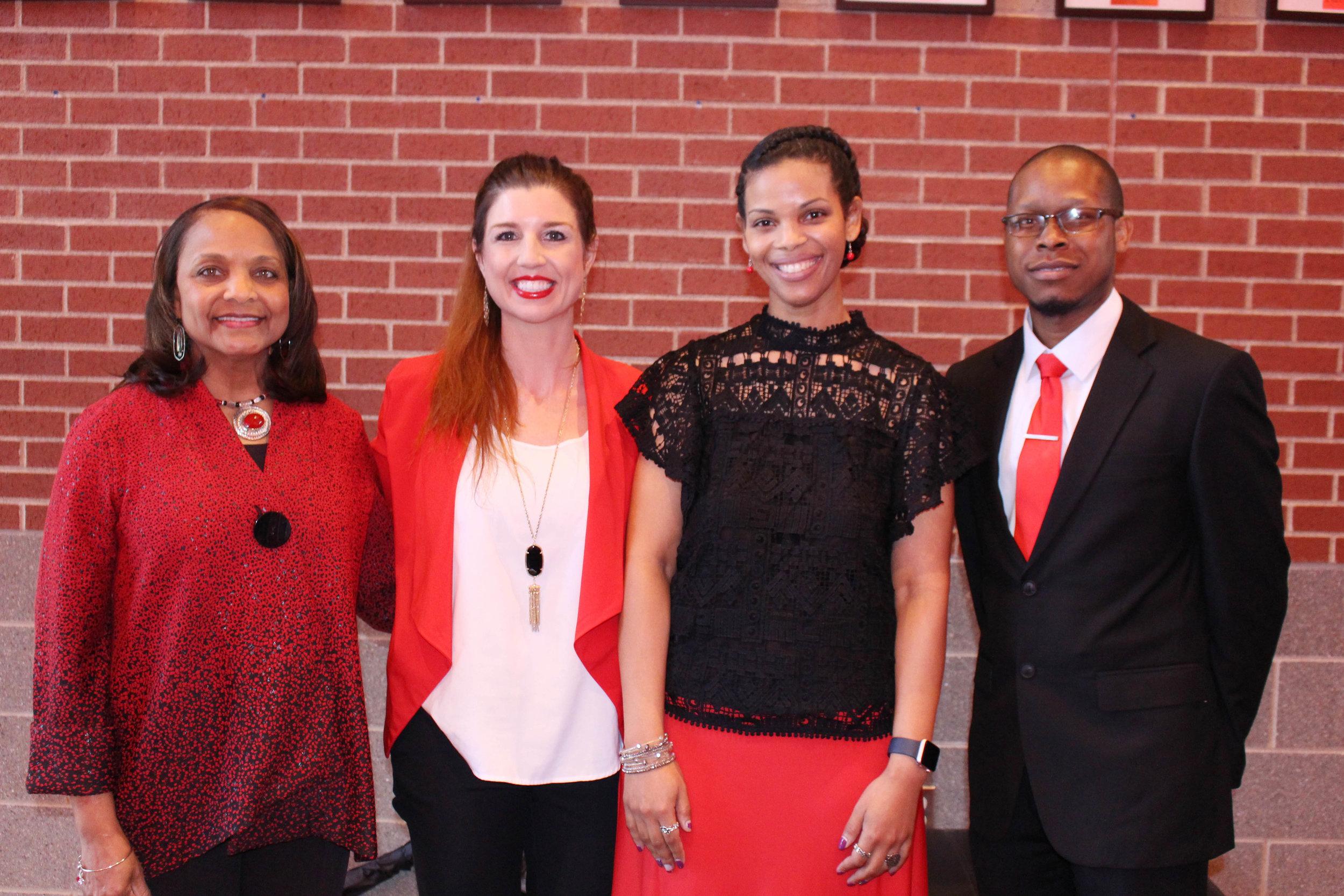 Regina Houff, Jennifer Page, Kayla Washington and Demarcus Green