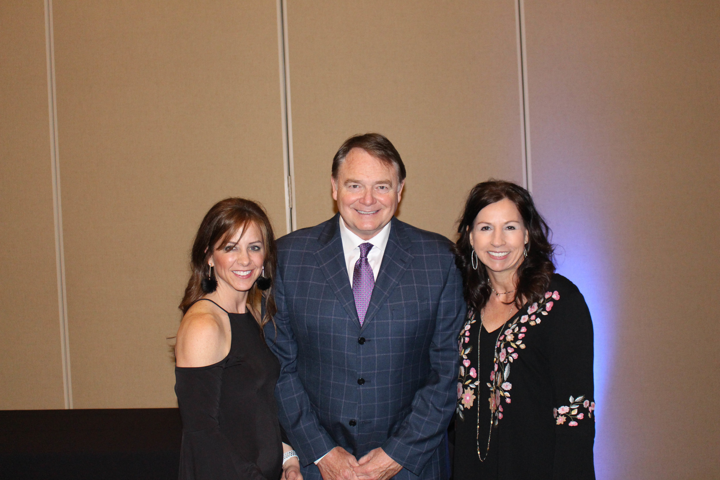 Ashley Mclean, Houston Nutt and Denise Wallace