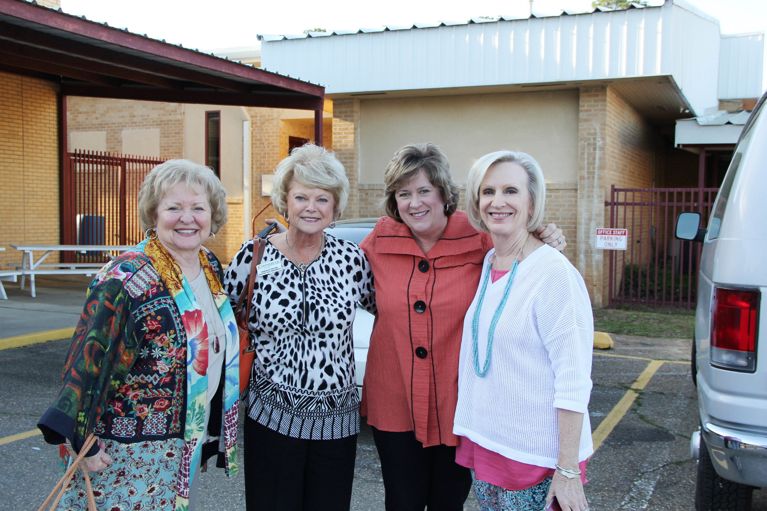 Joan Carter, Debra Moore, Trish Russell and Patsy Morriss