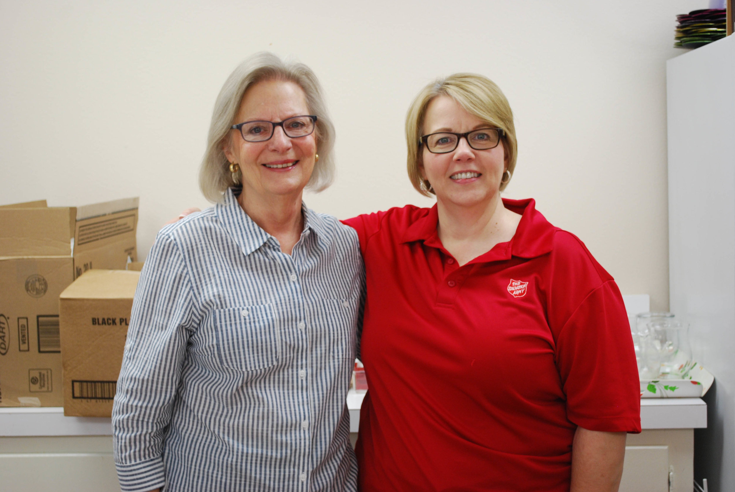 Linda McDaniel and Maj. Louise Feeser
