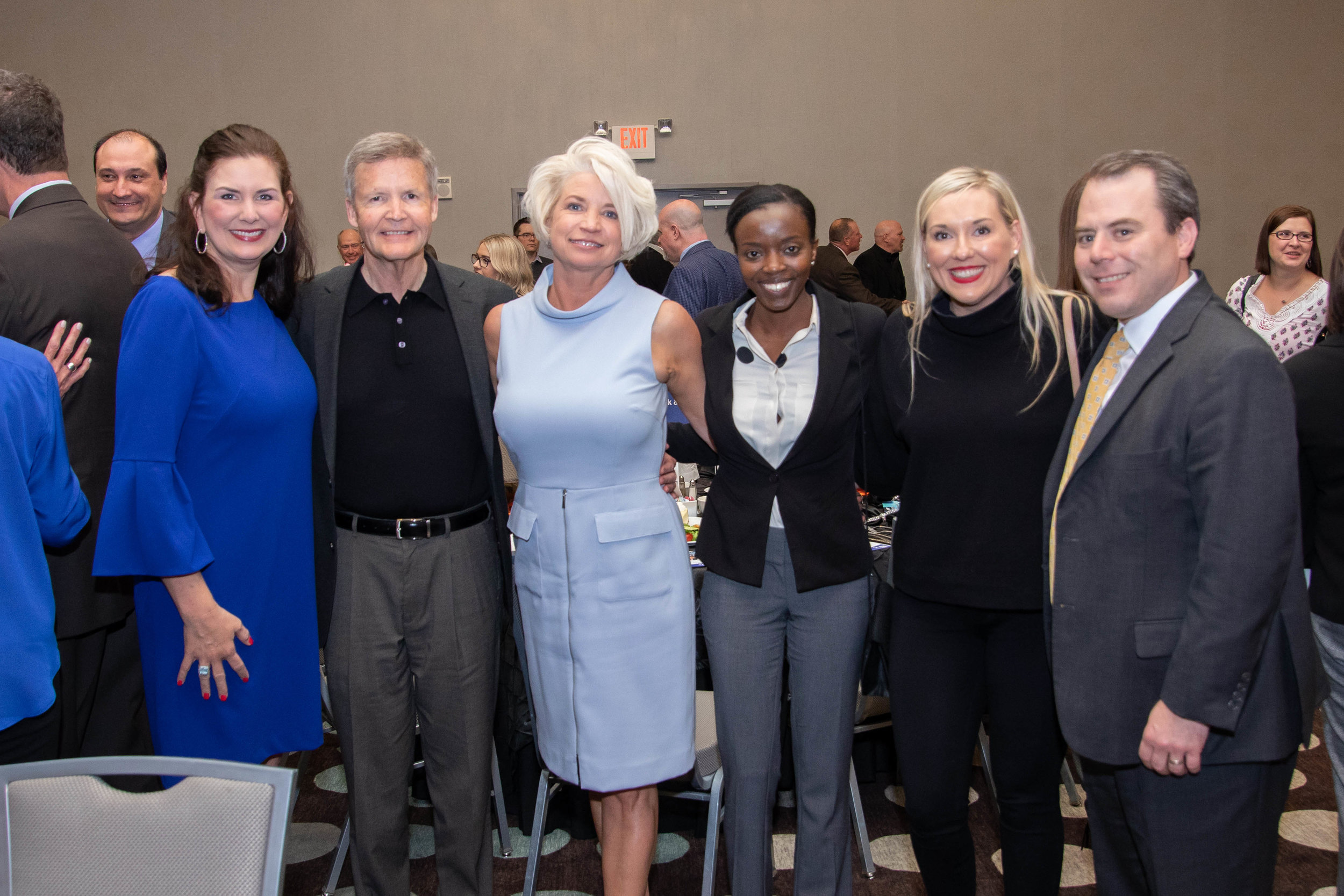 """Robin Rogers, Mike and Daphne Cox, Immaculée """"Gabie"""" Ingabire, Cassy and Fred Meisenheimer"""