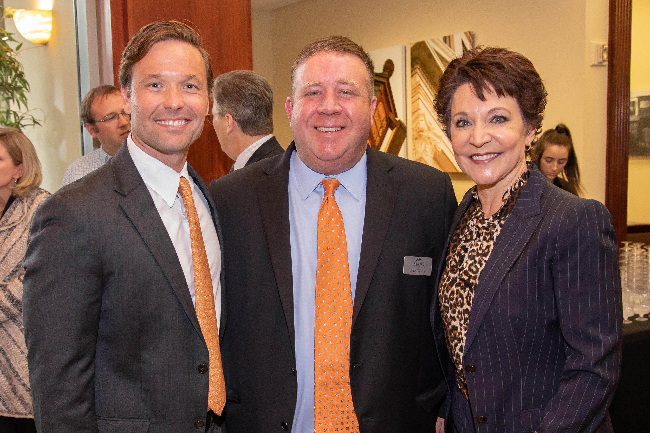 Josh Andrus, Dave White and Sonja Hubbard