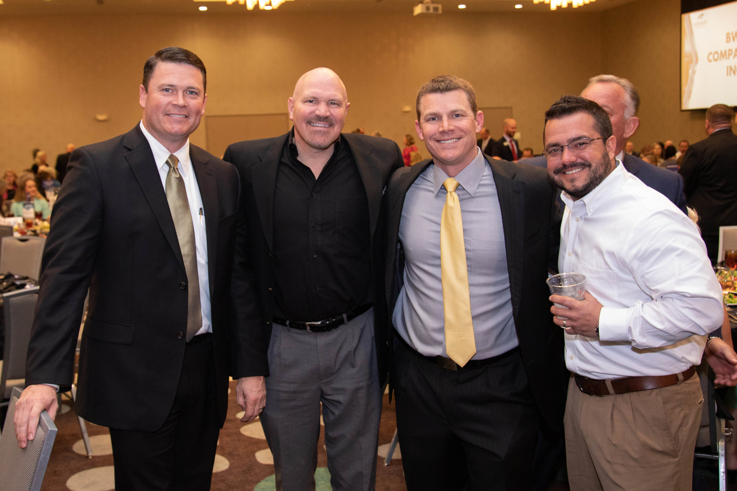 Chad Pirtle, Pastor Jeff Schreve, Josh Gibson and David Ramsey