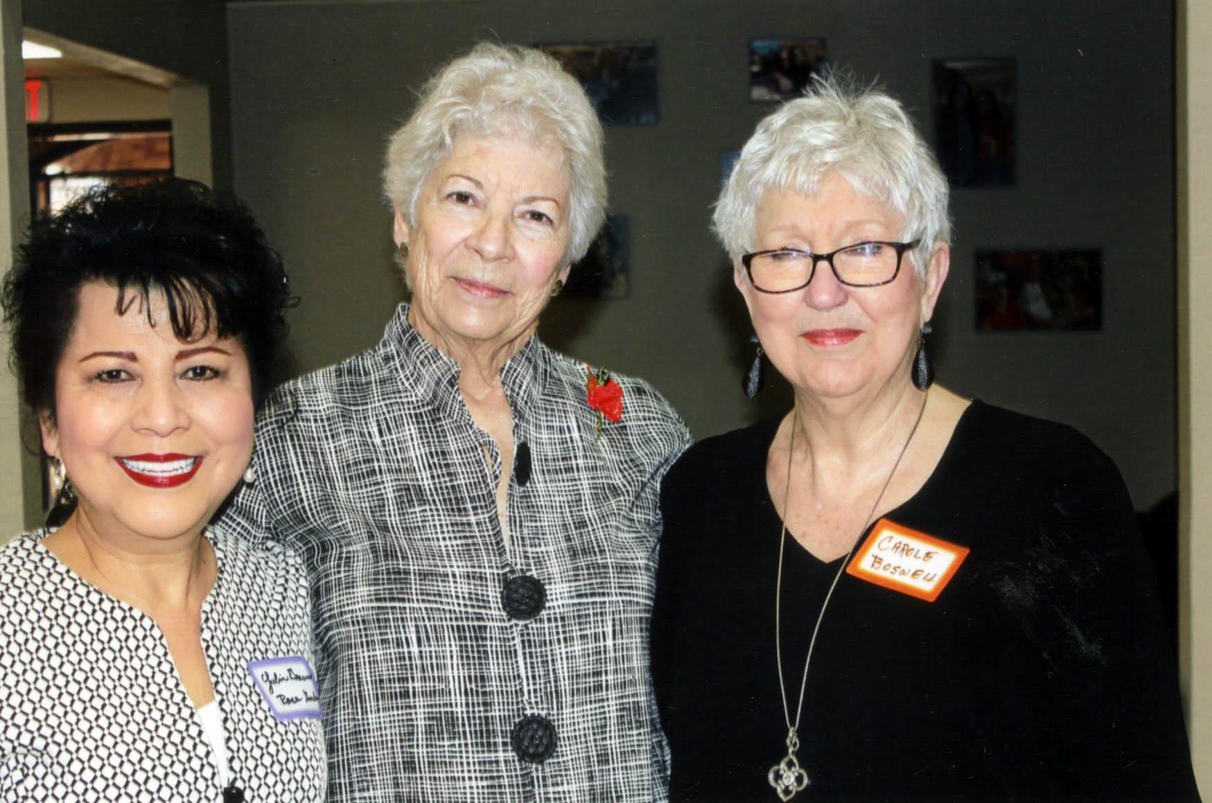 Yulin Brewer, Janella Garrett and Carol Boswell