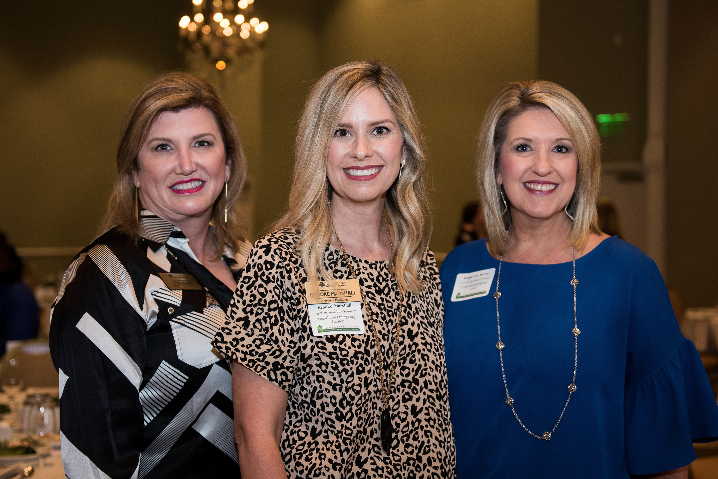 Cindy Young, Brooke Marshall and Leigh Ann Scates
