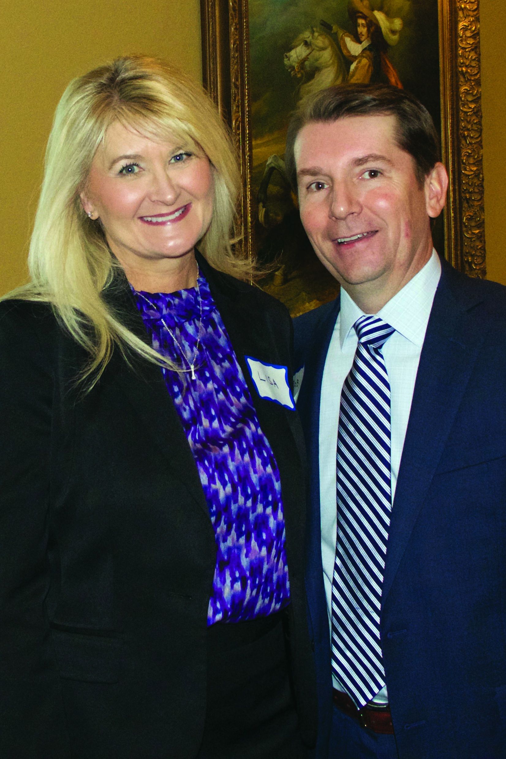Rob and his wife, Lisa, during a Welcome Reception held in their honor on March 5 after he was named CEO of AR-TX Regional Economic Development Incorporation (AR-TX REDI).