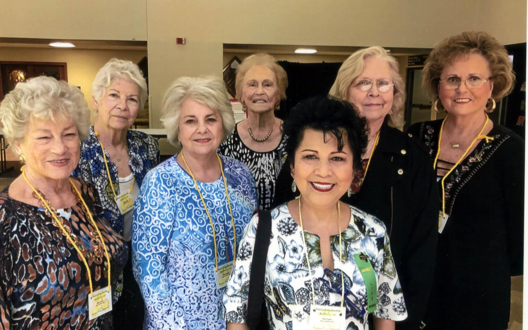 Janice Martin, Janella Garrett, Rita Freeman, Vida Brine, Yulin Brewer, Beth Brine and Janis Stringfellow