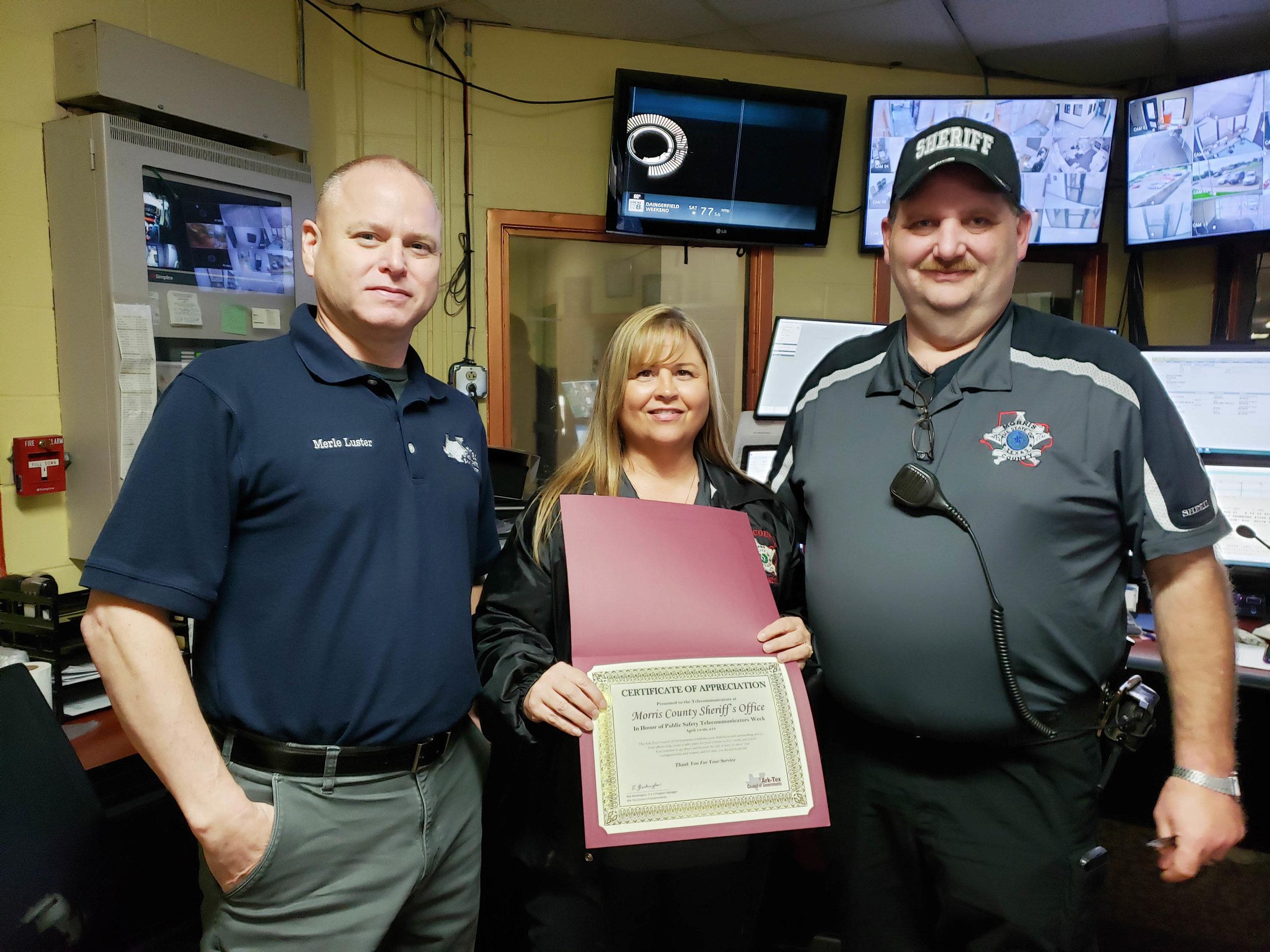 Merle Luster, Cheryl Murphy and Ken Thomas