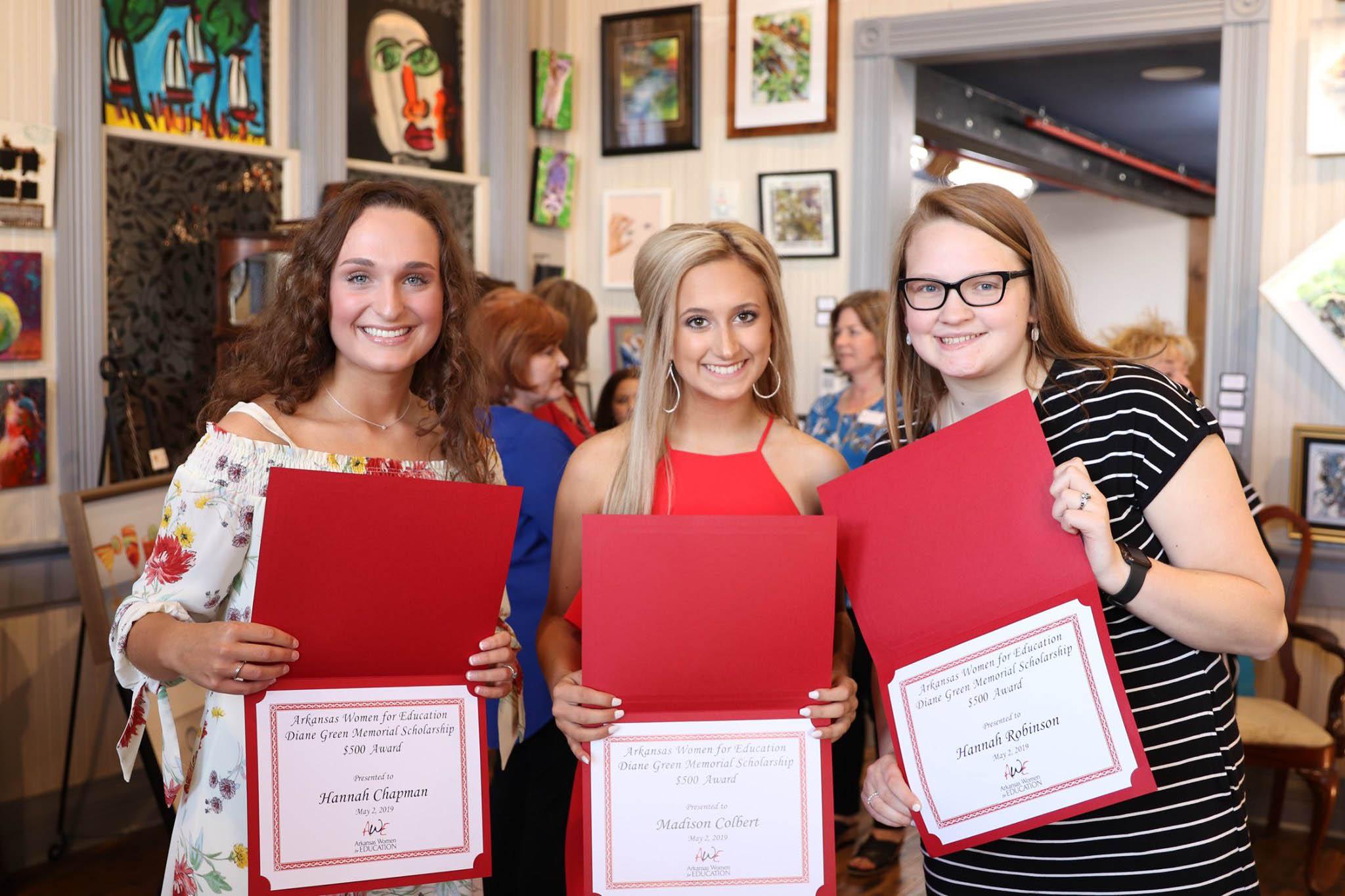 Hannah Chapman, Madison Colbert and Hannah Robinson