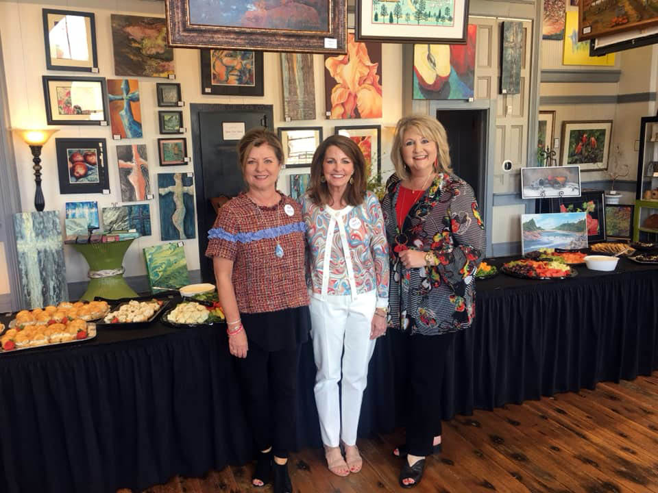 Robin Hickerson, Anne Douglas and LeAnne Wright